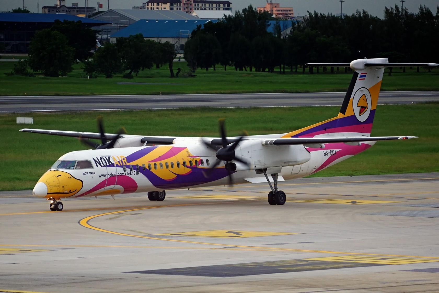 nokaie 皇雀航空 不说别的 就问你萌不萌 DE HAVILLAN CANADA DHC-8-400 HS-DQA 泰国曼谷廊曼国际机场