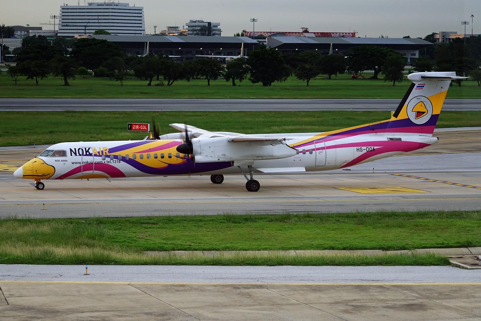 Re:nokaie 皇雀航空 不说别的 就问你萌不萌 DE HAVILLAN CANADA DHC-8-400 HS-DQA 泰国曼谷廊曼国际机场
