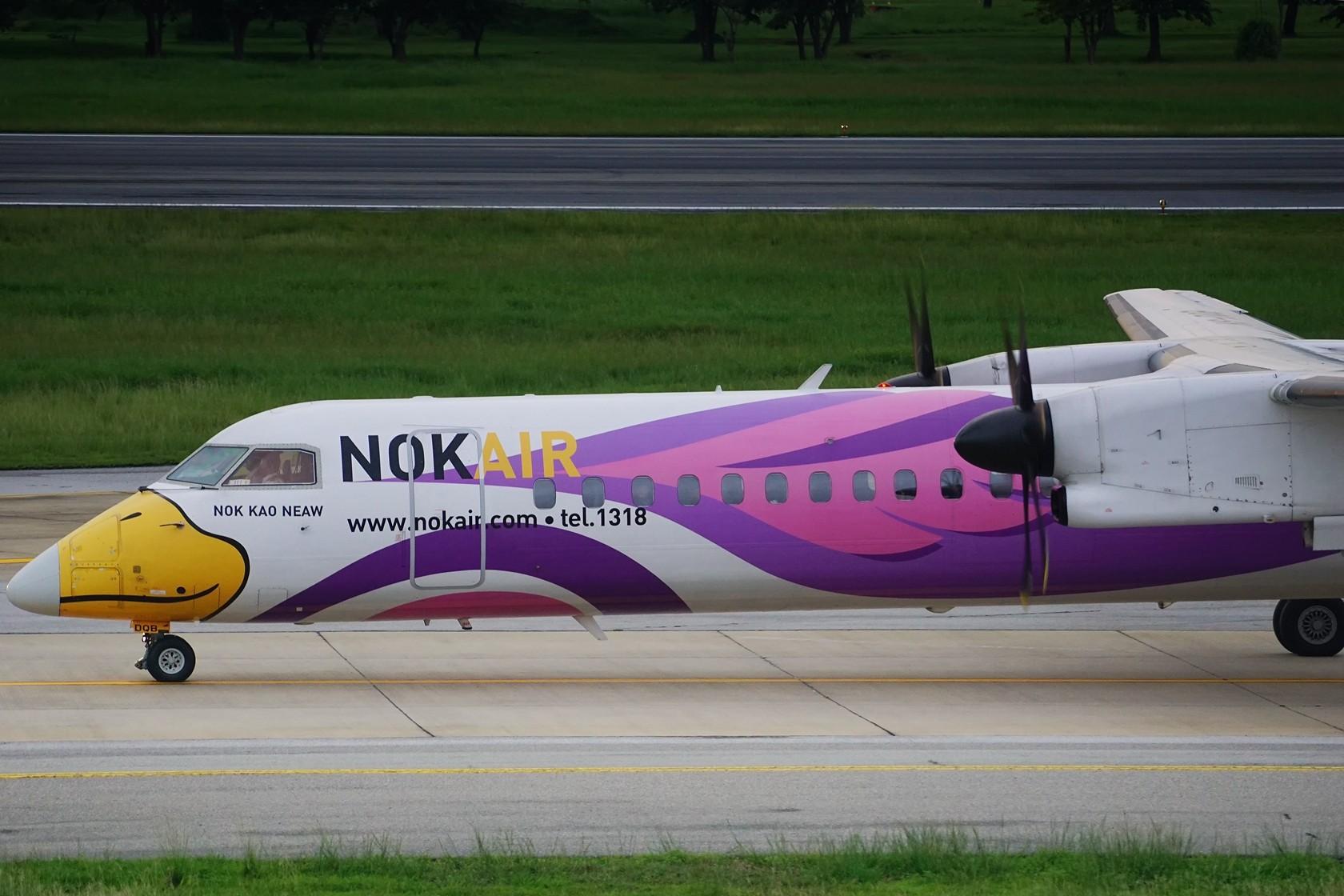 Re:nokaie 皇雀航空 不说别的 就问你萌不萌 DE HAVILLAN CANADA DHC-8-400 HS-DQB 泰国曼谷廊曼国际机场