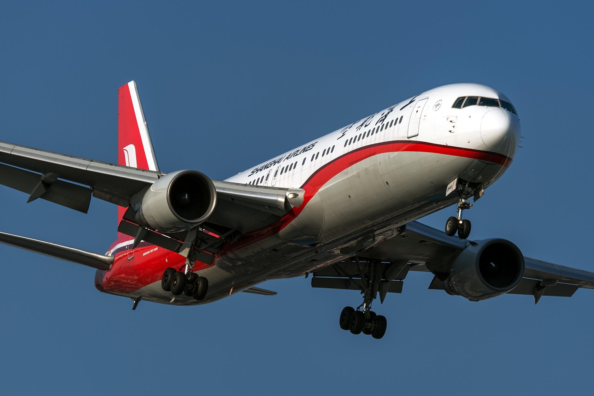 [原创]好像上航最后一架767ER退了,今天拍到他最后的身影