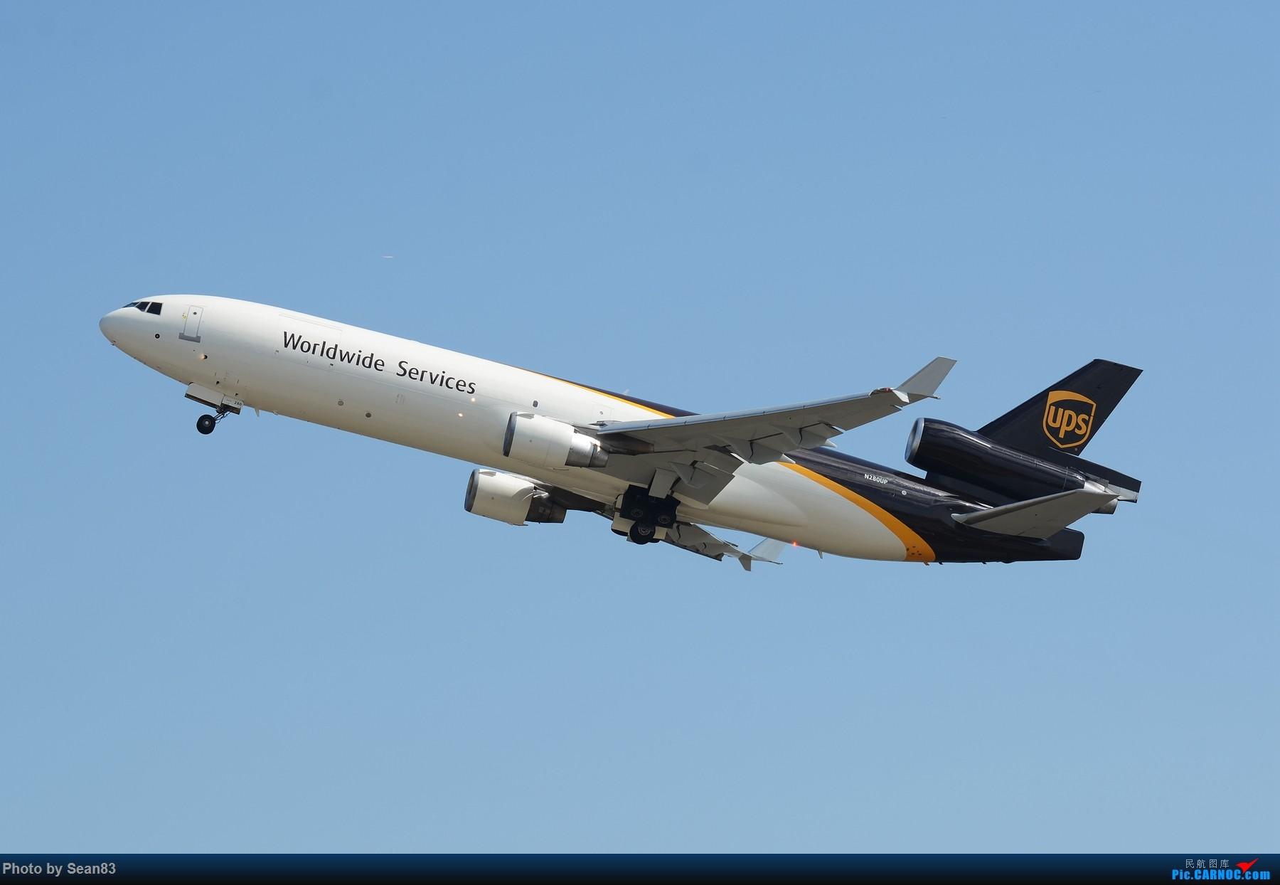 攒了好些图,能发贴了拿出来晒晒 MD MD-11 N280UP 上海浦东国际机场