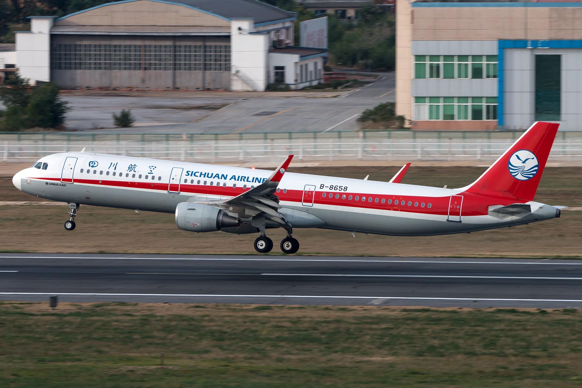 Re:[原创]川农特技飞行表演队 1920*1280 AIRBUS A321-200 B-8658 中国大连国际机场