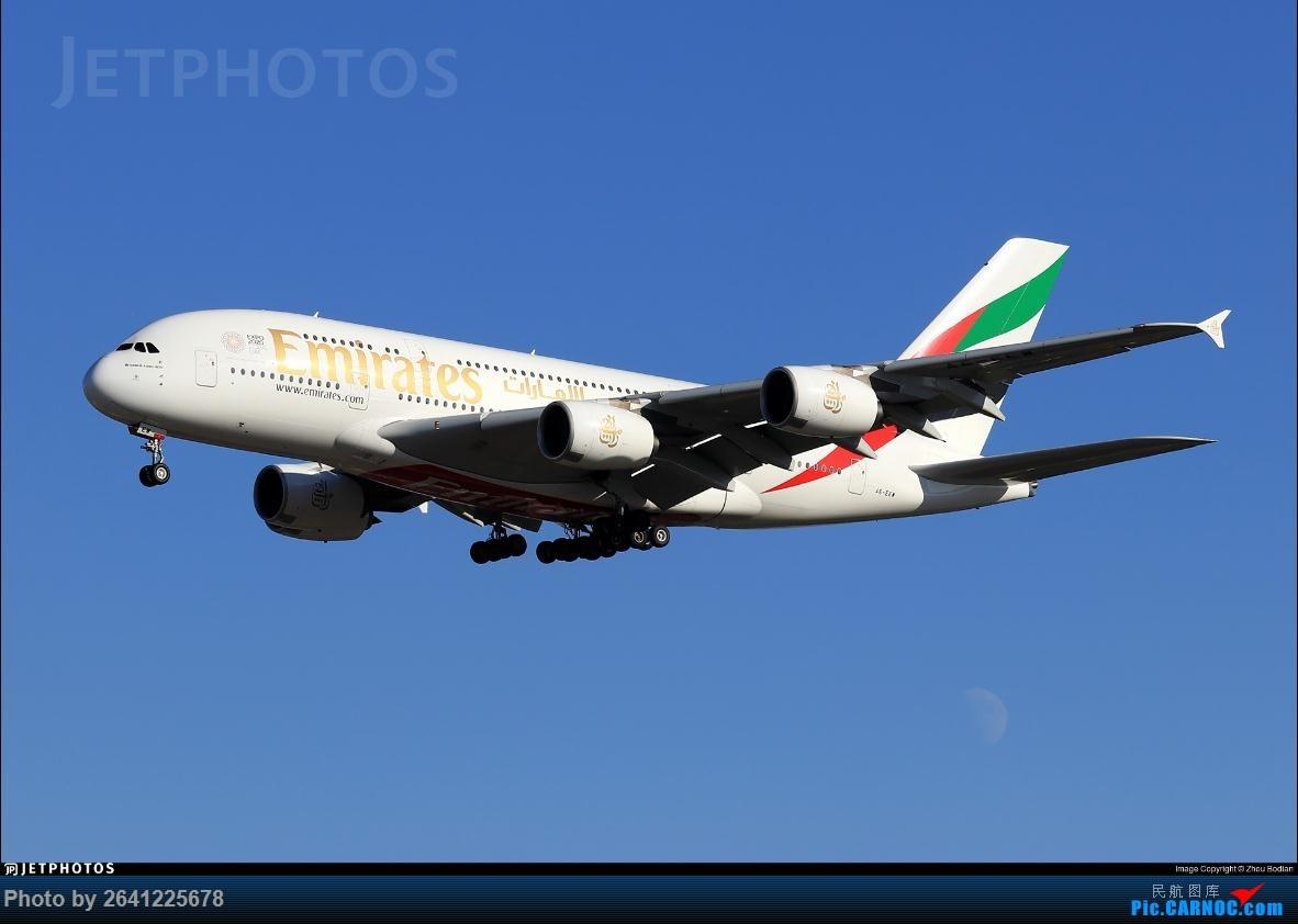[原创]庆祝自己在jetphotos.net的第100张 AIRBUS A380-800 A6-EEW 中国北京首都国际机场