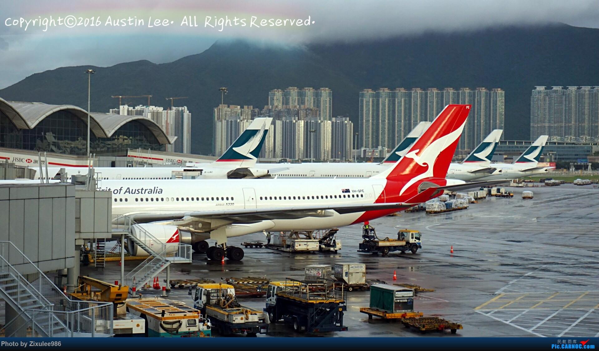 Re:[原创]论坛修复后第一波~三年来旅游途中的拍机精选~ AIRBUS A330-303 VH-QPE 中国香港国际机场