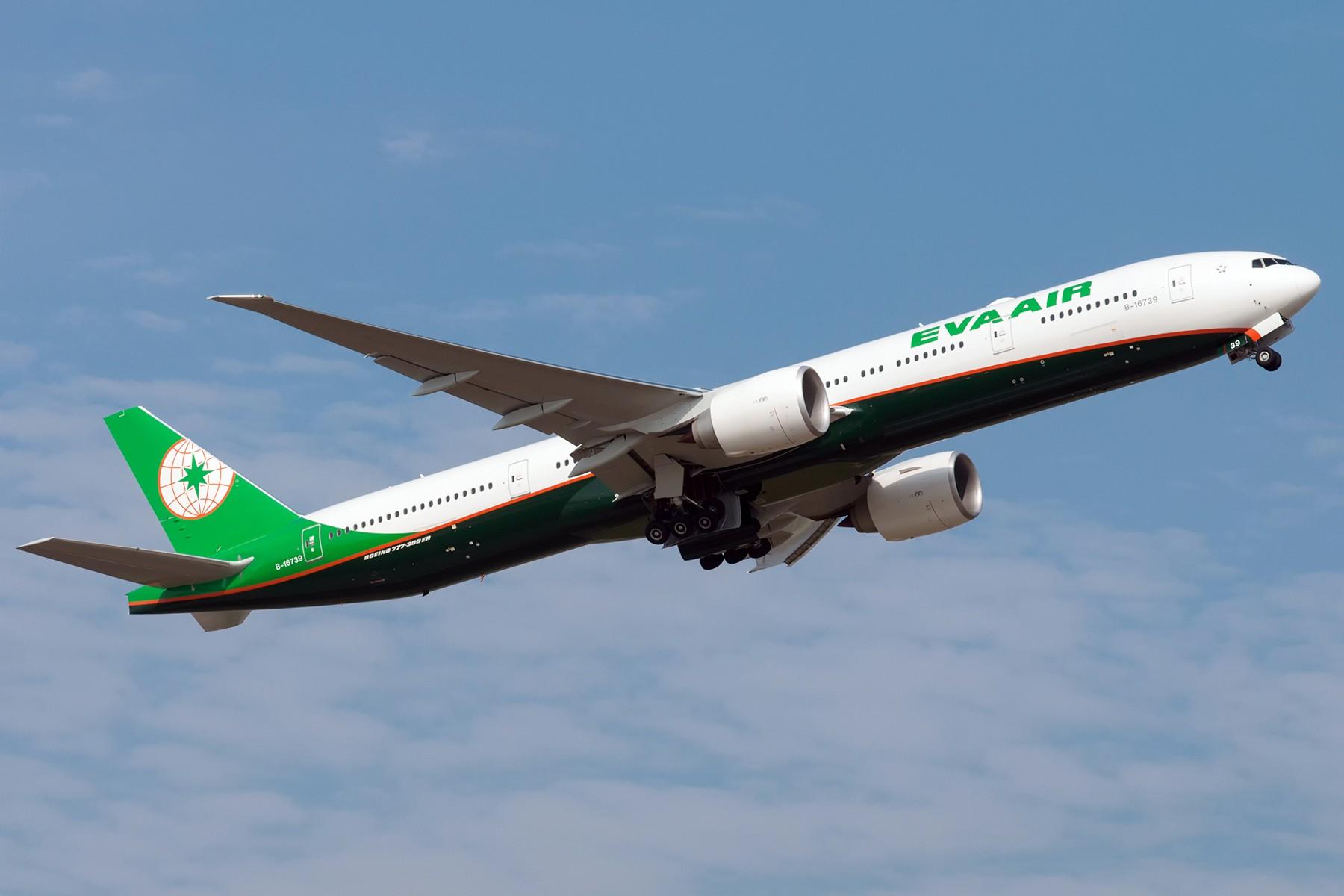[原创]EVA AIR 一对 77W BOEING 777-300ER B-16739 中国上海浦东国际机场
