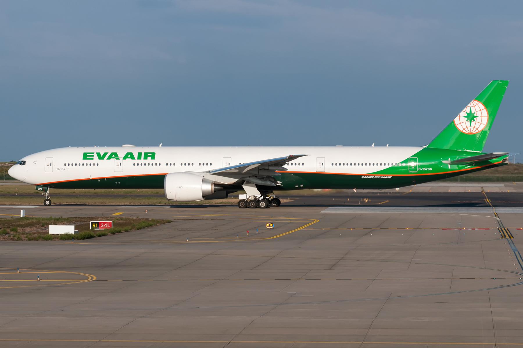 Re:[原创]EVA AIR 一对 77W BOEING 777-300ER B-16736 中国上海浦东国际机场