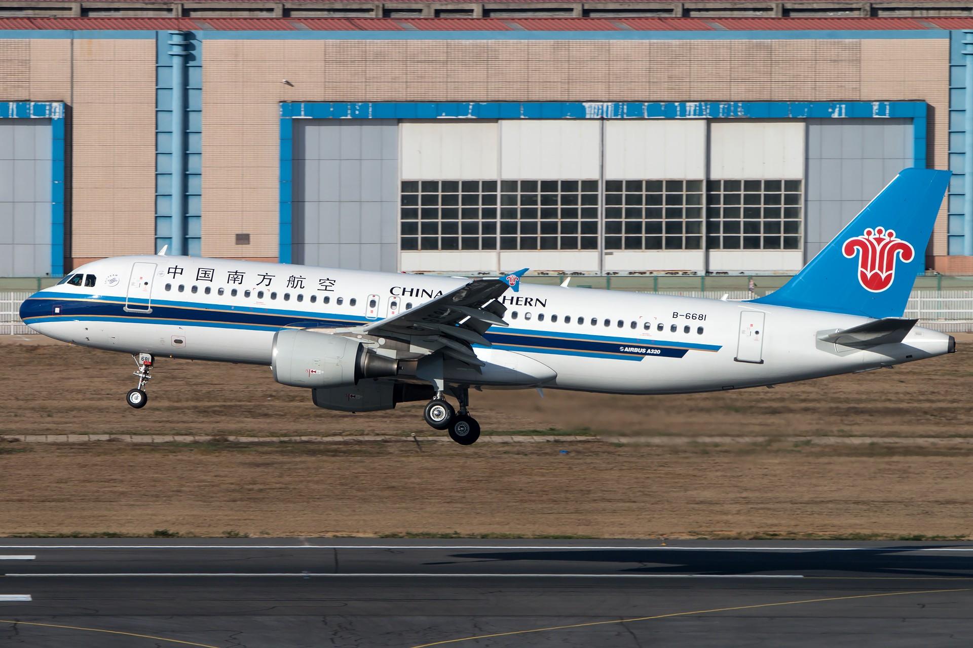 [原创][一图党]中国南方航空 B-6681 A320 1920*1280 AIRBUS A320-200 B-6681 中国大连国际机场