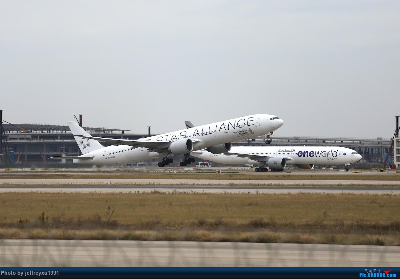 [原创][PVG]所谓星空联盟强力压制寰宇一家 BOEING 777-300ER 9V-SWJ 中国上海浦东国际机场