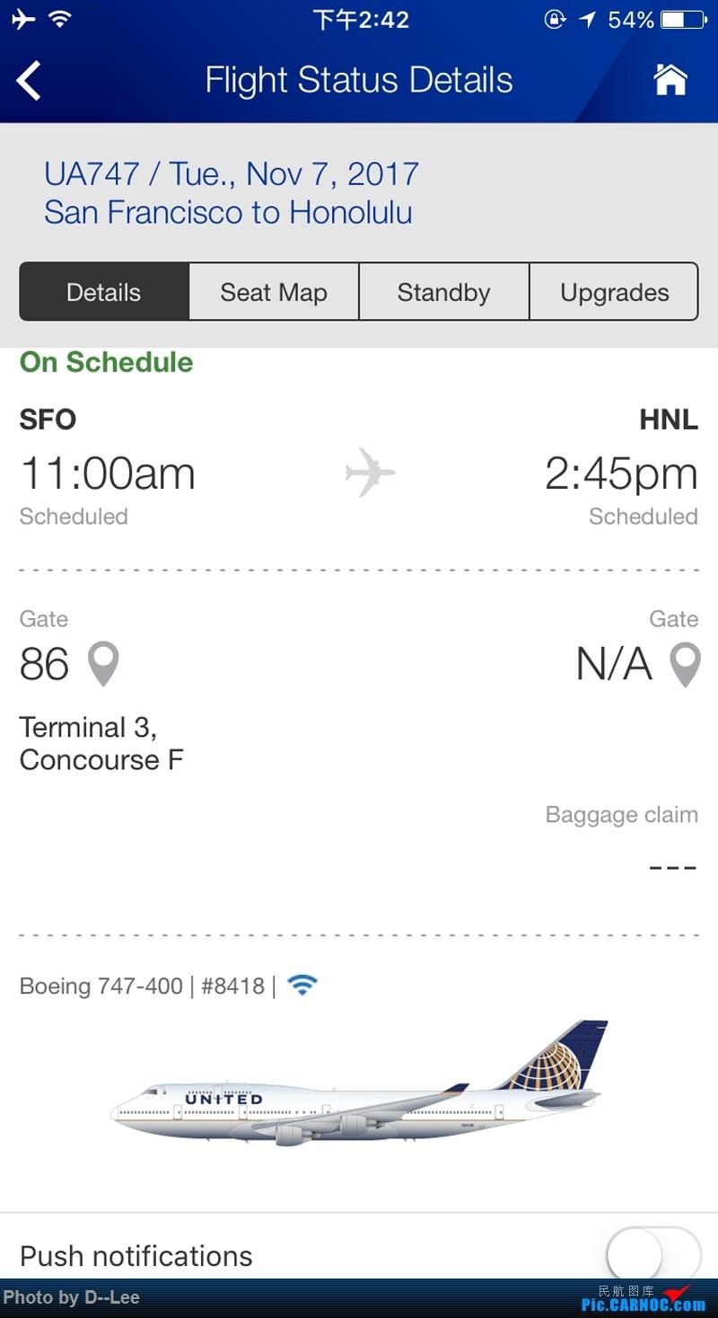 Re:[原创]【 广东青少年拍机小队】五年没发帖,2017年11月7日忍不住为留学五年我眼里的美联航747发一帖。(拍机、飞行体验、驾驶舱、Flight log大合集)