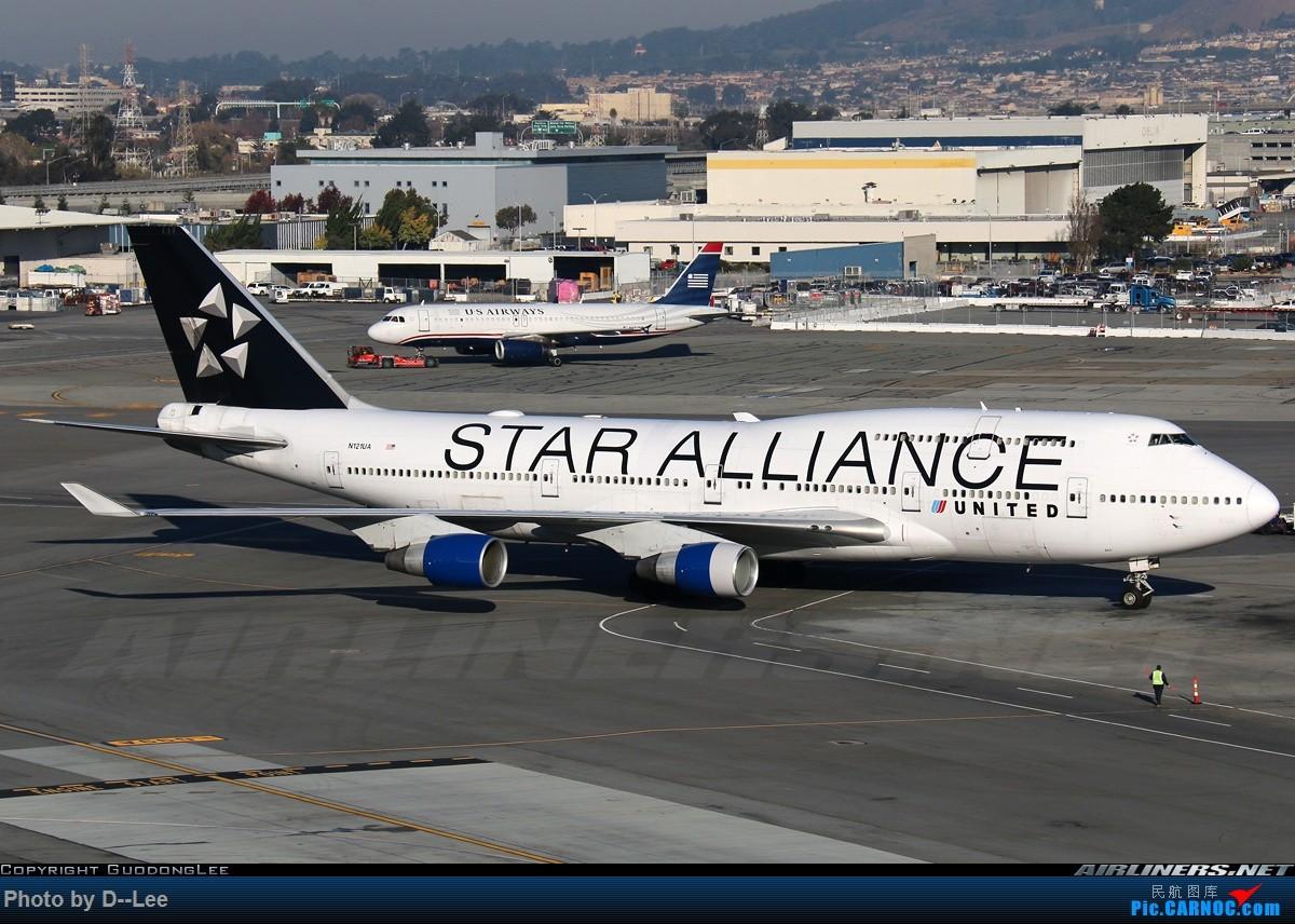 [原创]【 广东青少年拍机小队】五年没发帖,2017年11月7日忍不住为留学五年我眼里的美联航747发一帖。(拍机、飞行体验、驾驶舱、Flight log大合集) BOEING 747-400  美国旧金山机场