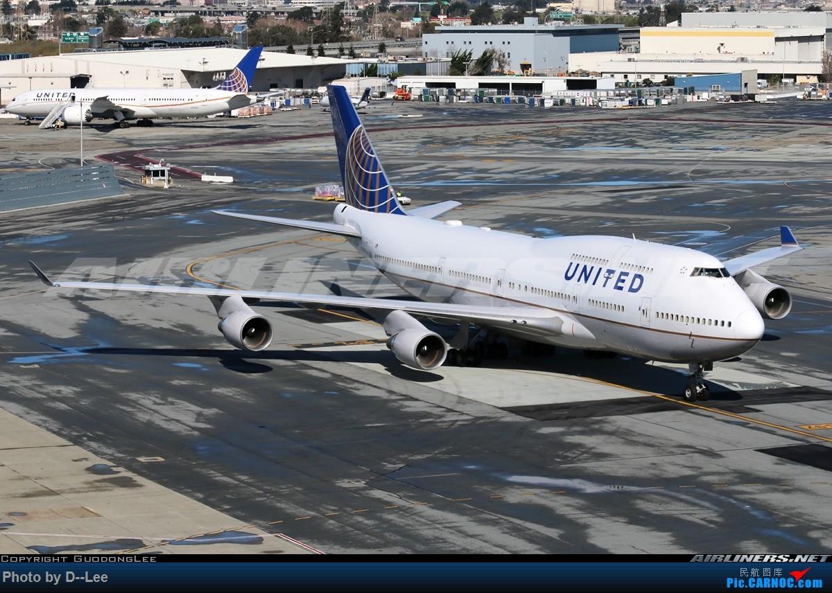 Re:[原创]【 广东青少年拍机小队】五年没发帖,2017年11月7日忍不住为留学五年我眼里的美联航747发一帖。(拍机、飞行体验、驾驶舱、Flight log大合集) BOEING 747-400  美国旧金山机场