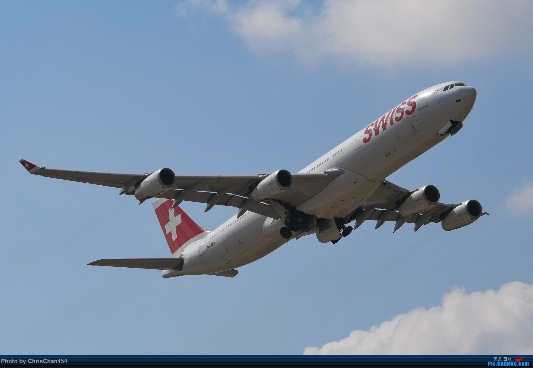 [原创]PVG重型机一组,5APU & 卡狗 AIRBUS A340-300 HB-JMA 中国上海浦东国际机场