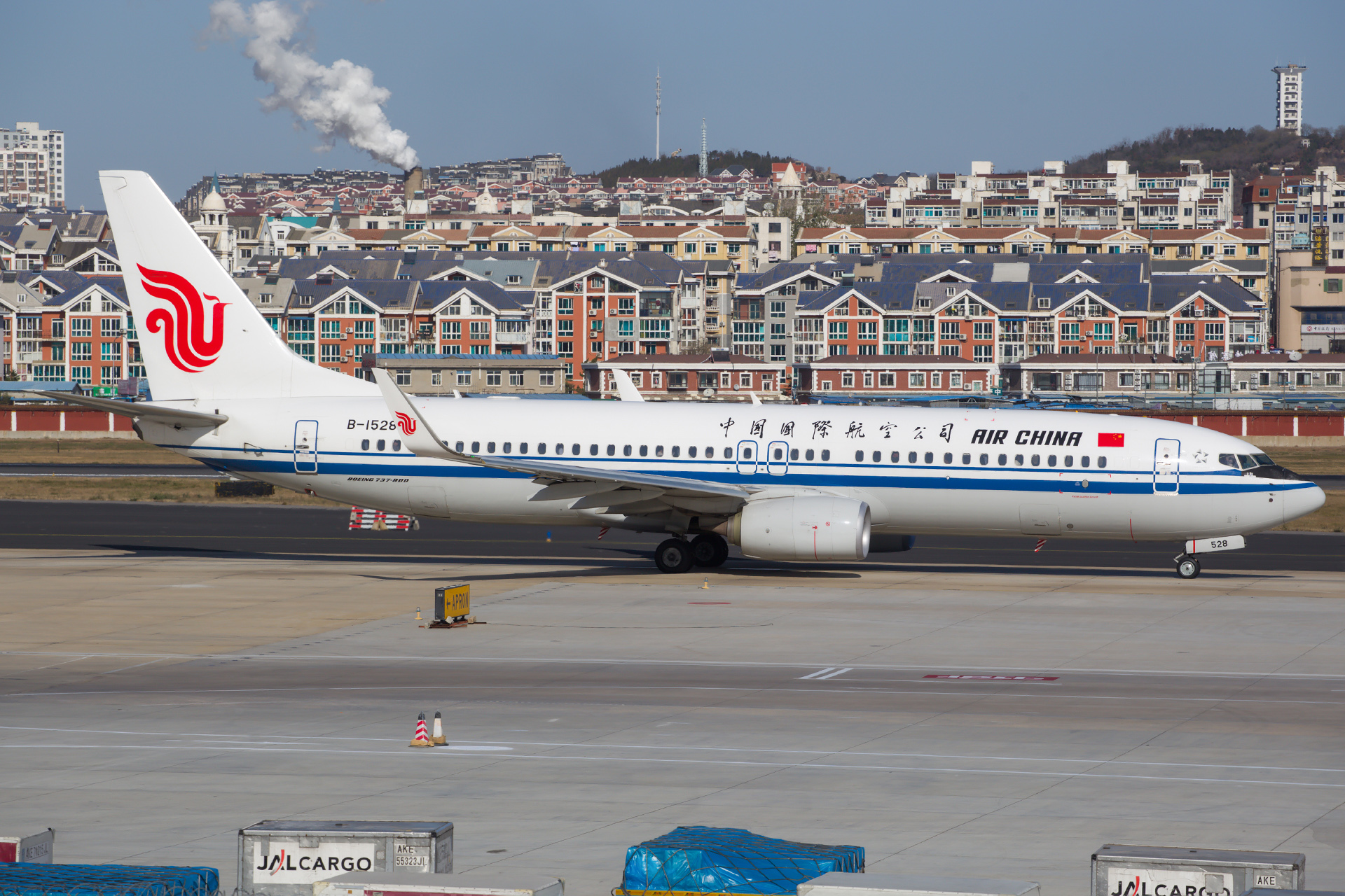 [原创][DLC]。。。 杂图。。。 BOEING 737-800 B-1528 中国大连国际机场