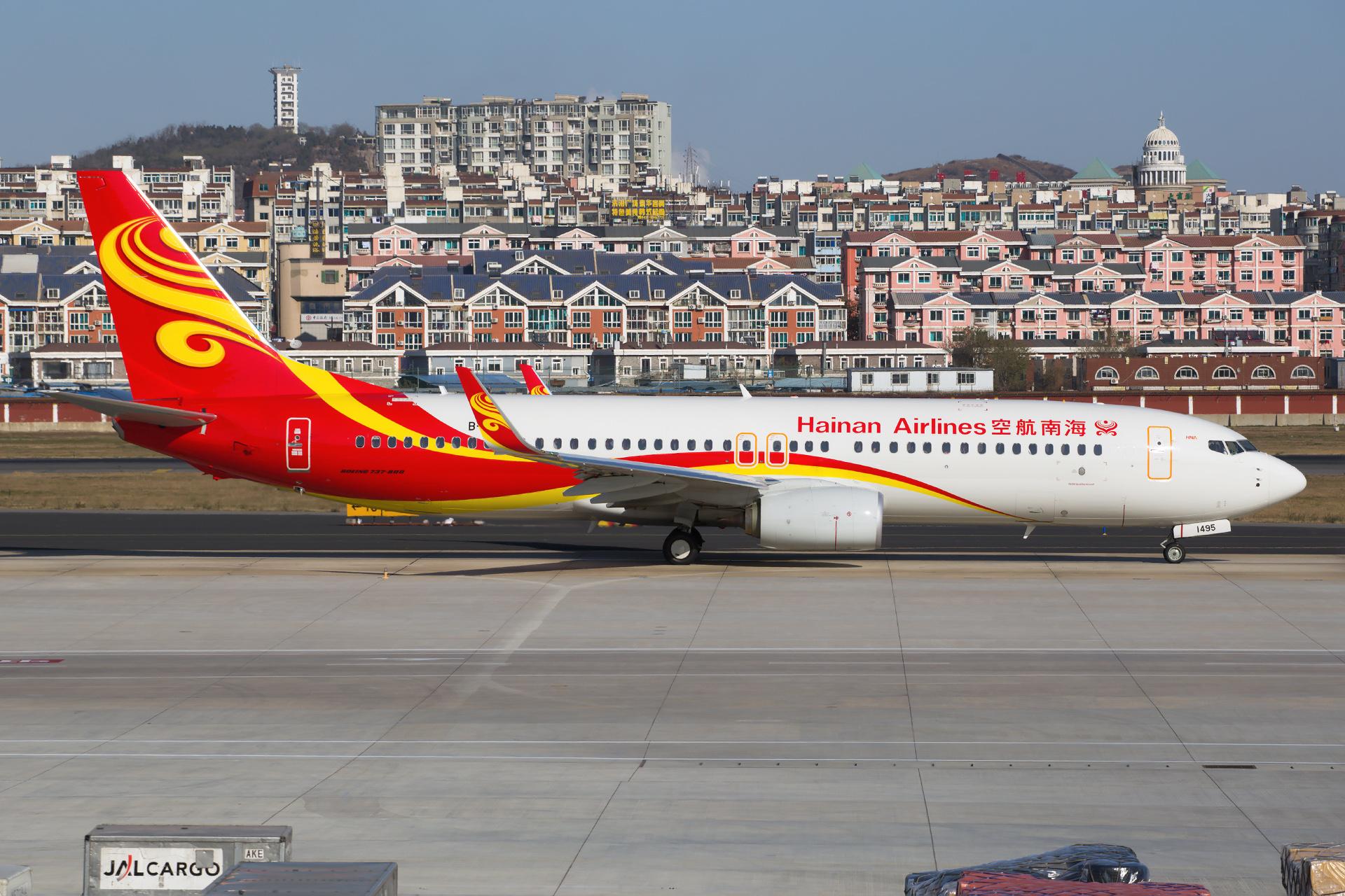 Re:[原创][DLC]。。。 杂图。。。 BOEING 737-800 B-1495 中国大连国际机场