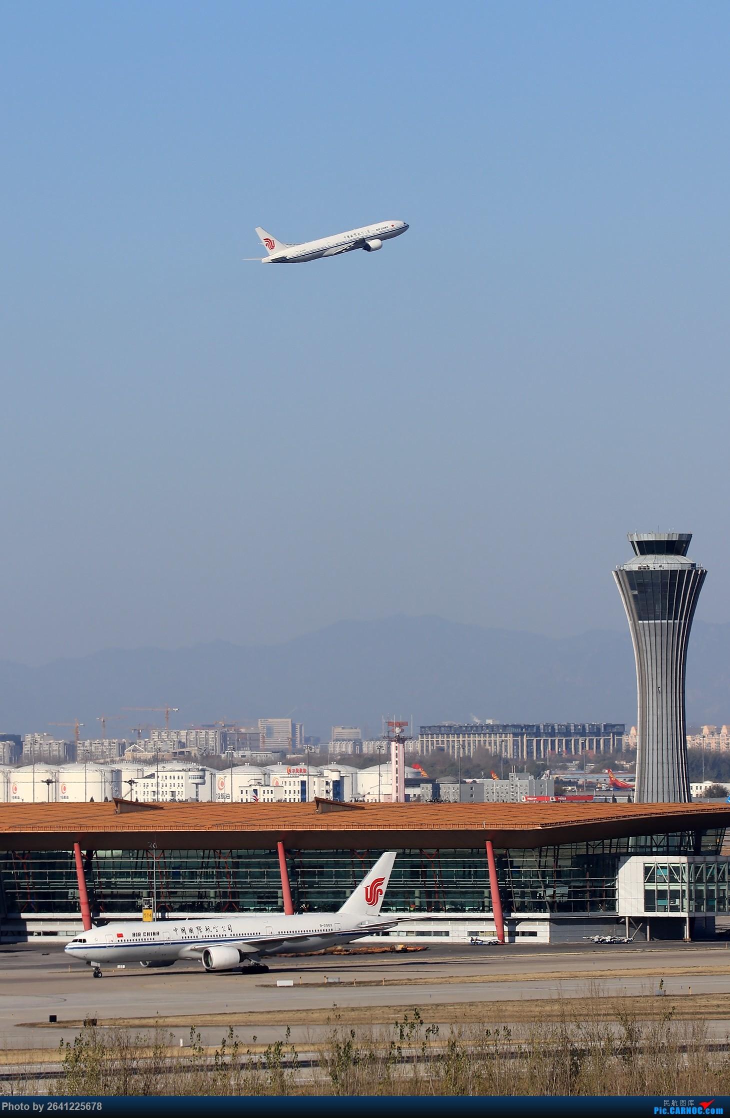 [原创]【一图党】两架CA772同框,送给大家做壁纸 BOEING 777-200 B-2069 中国北京首都国际机场