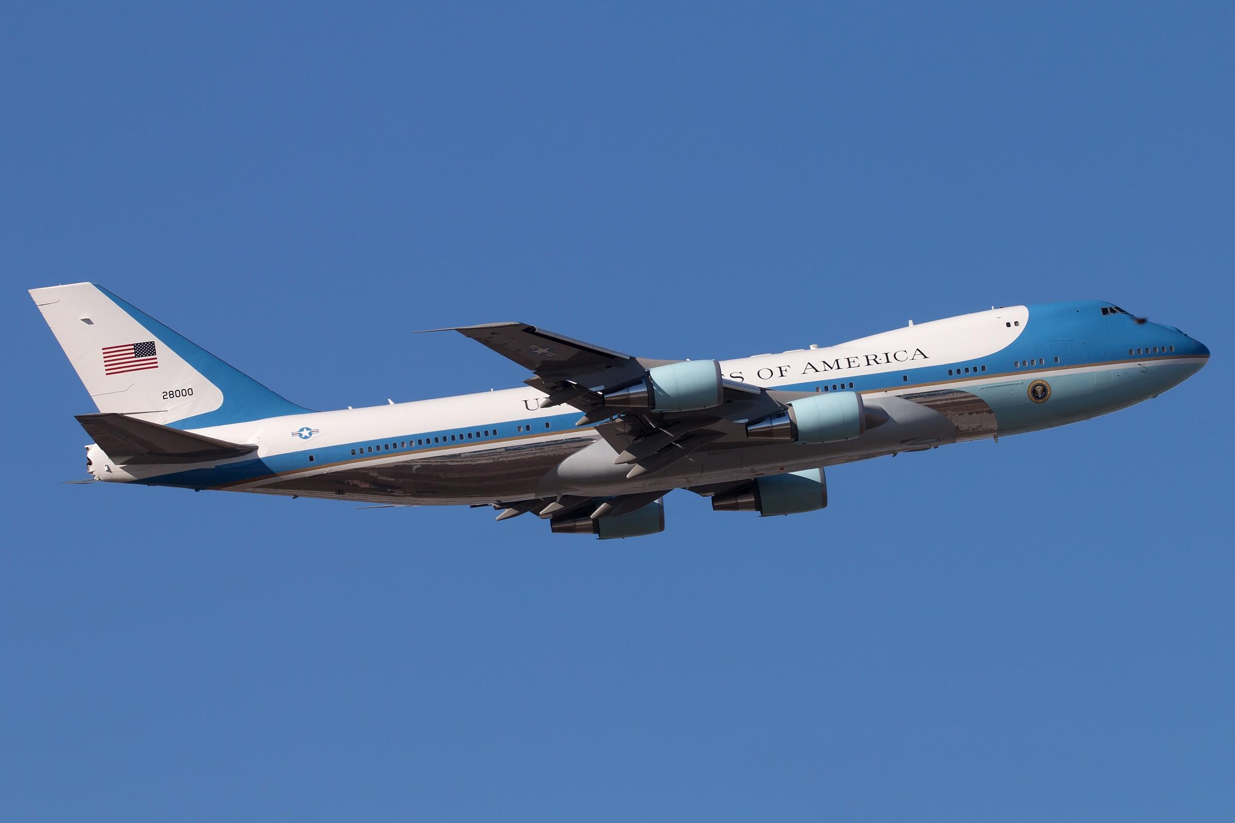 [原创]82-8000、92-9000 BOEING 747-2G4B (VC-25A) 82-8000 中国北京首都国际机场