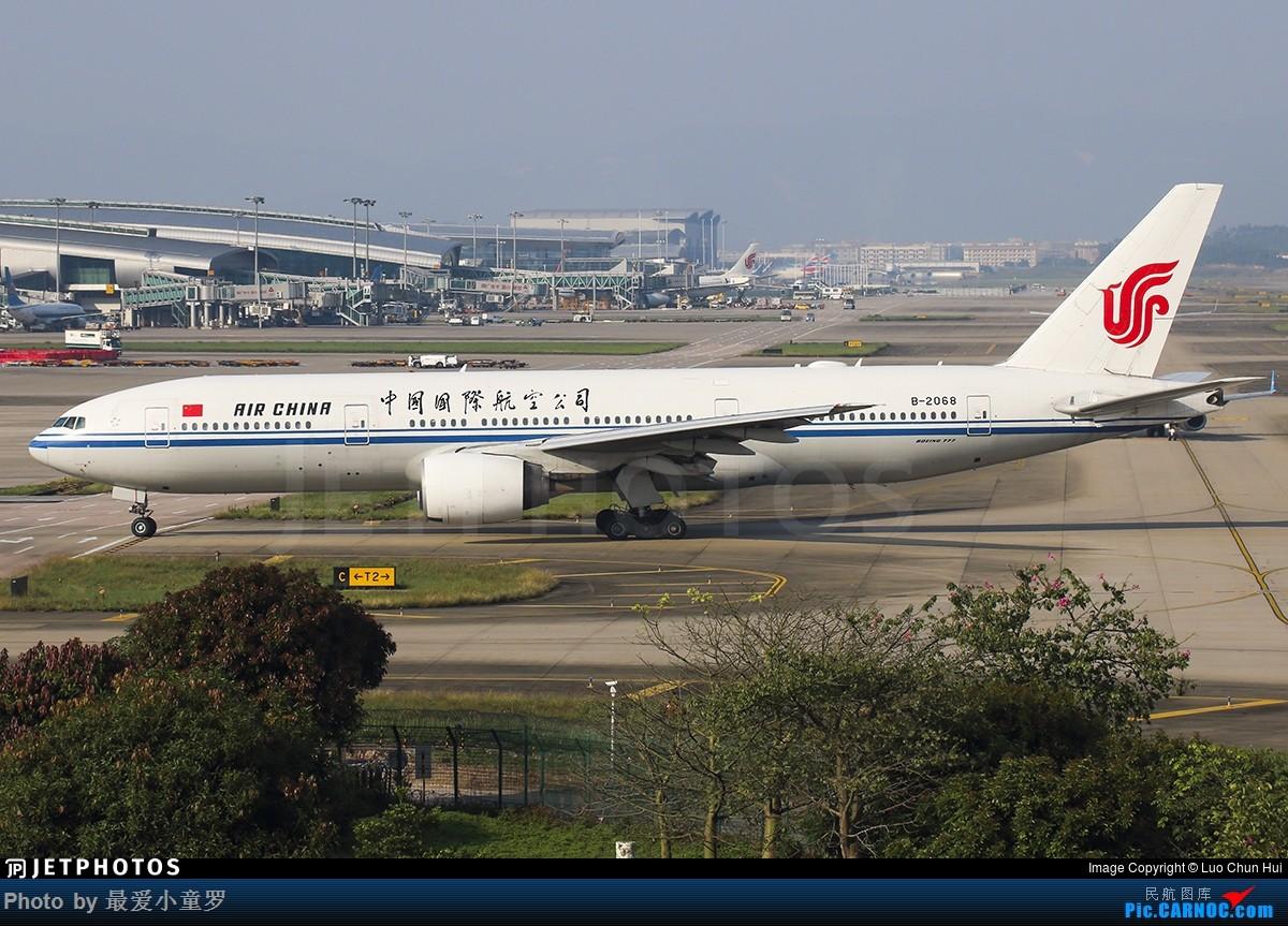[原创]1000th——中国国际航空B-2068号波音777-200 BOEING 777-200 B-2068 中国广州白云国际机场