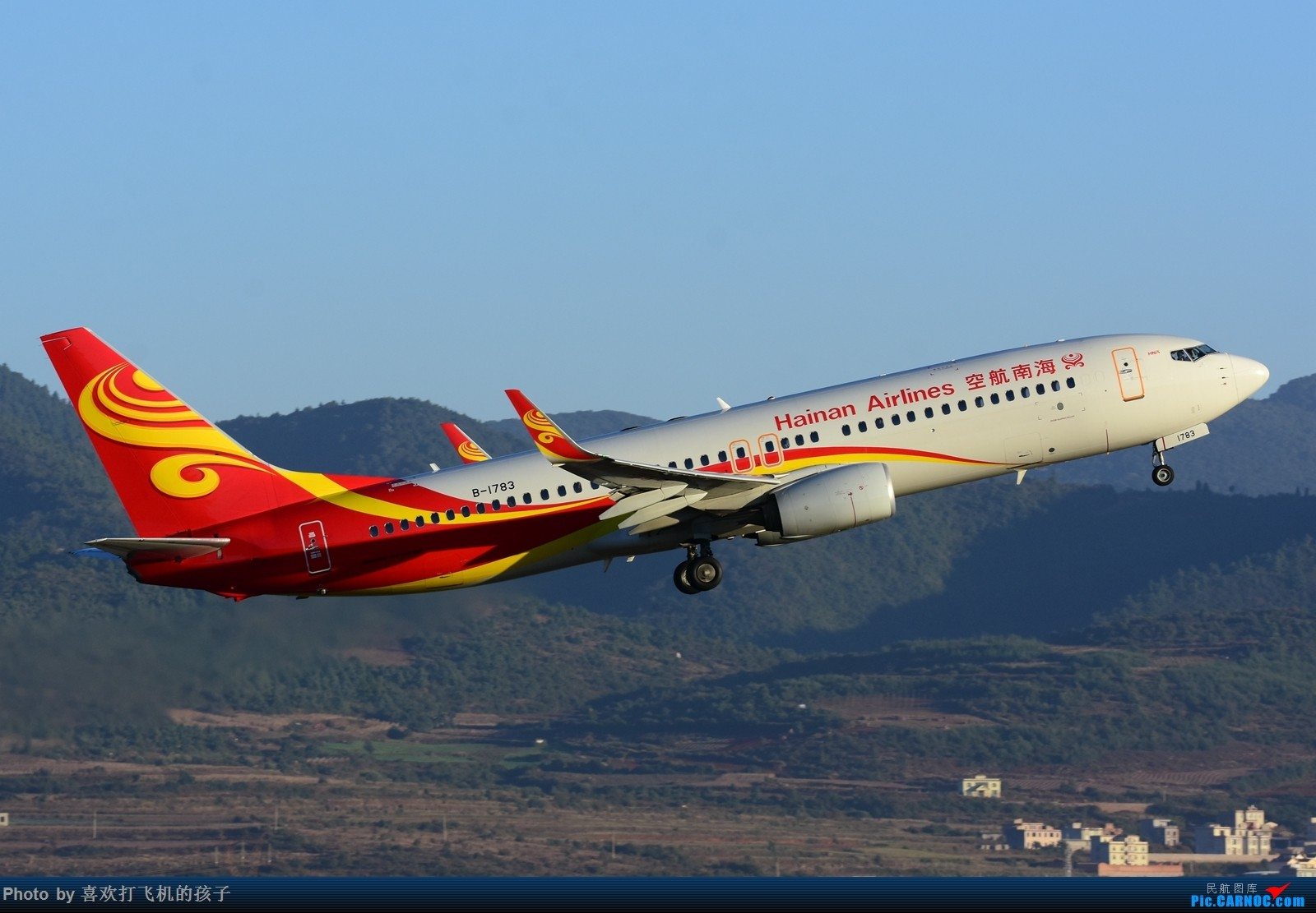 Re:[原创]【机机的飞飞】双十一和基友去KMG打机 BOEING 737-800 B-1783 中国昆明长水国际机场