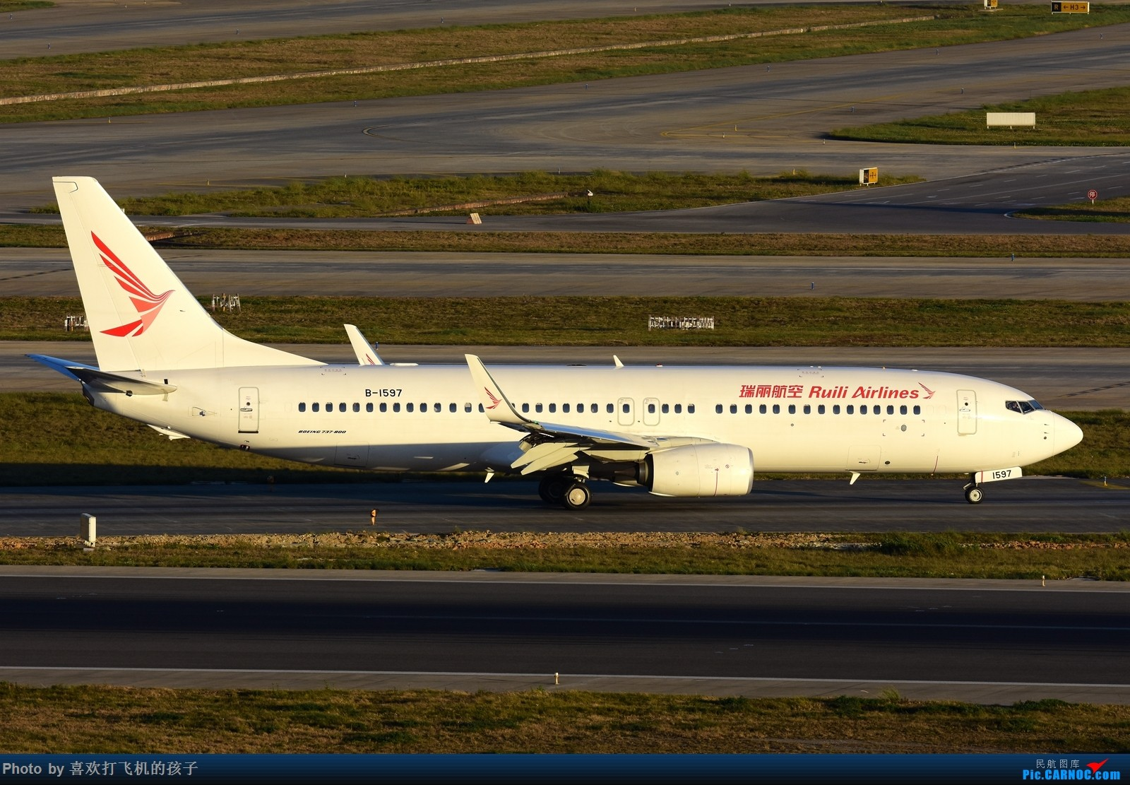 Re:[原创]【机机的飞飞】双十一和基友去KMG打机 BOEING 737-800 B-1597 中国昆明长水国际机场