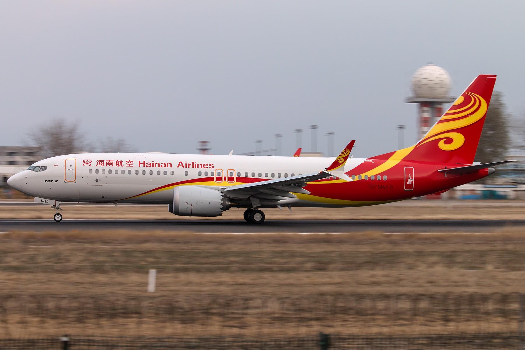[原创][一图党] 海南航空 B-1390 B737 MAX8 1800*1200 BOEING 737MAX-8 B-1390 中国北京首都国际机场
