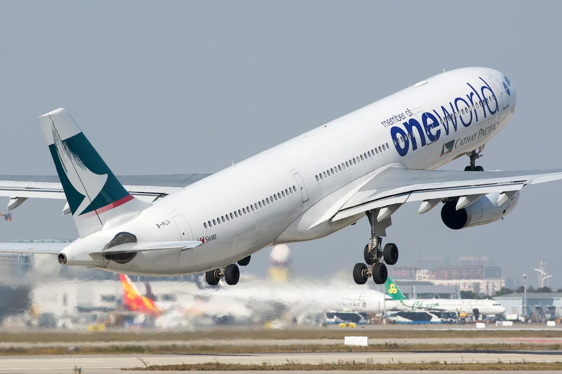 [原创]【PVG】一图党之国泰OW涂装333 AIRBUS A330-300 B-HLU 中国上海浦东国际机场