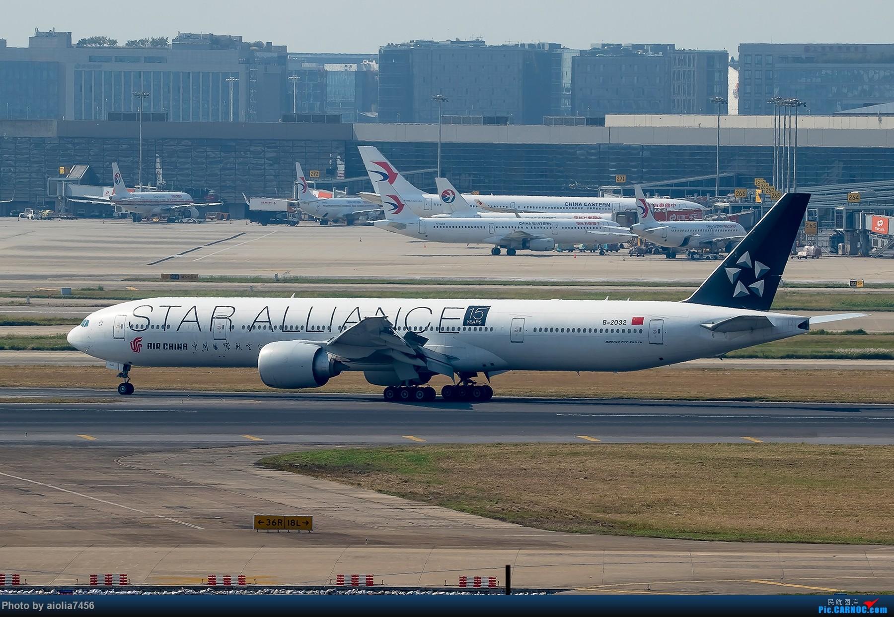 Re:[原创][霸都打机队]摸摸怀中的7D2,好宝宝,跟了新的主人你要乖乖听话哦,离开我之前,我带你逛一圈ZSSS,最后一次陪我看看那些我们不怎么看得到的宽体吧。 BOEING 777-300ER B-2032 中国上海虹桥国际机场