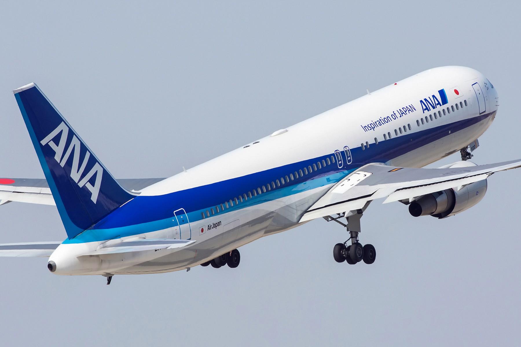 [原创]【PVG】两图~安娜767强势起飞 BOEING 767-300 JA622A 中国上海浦东国际机场