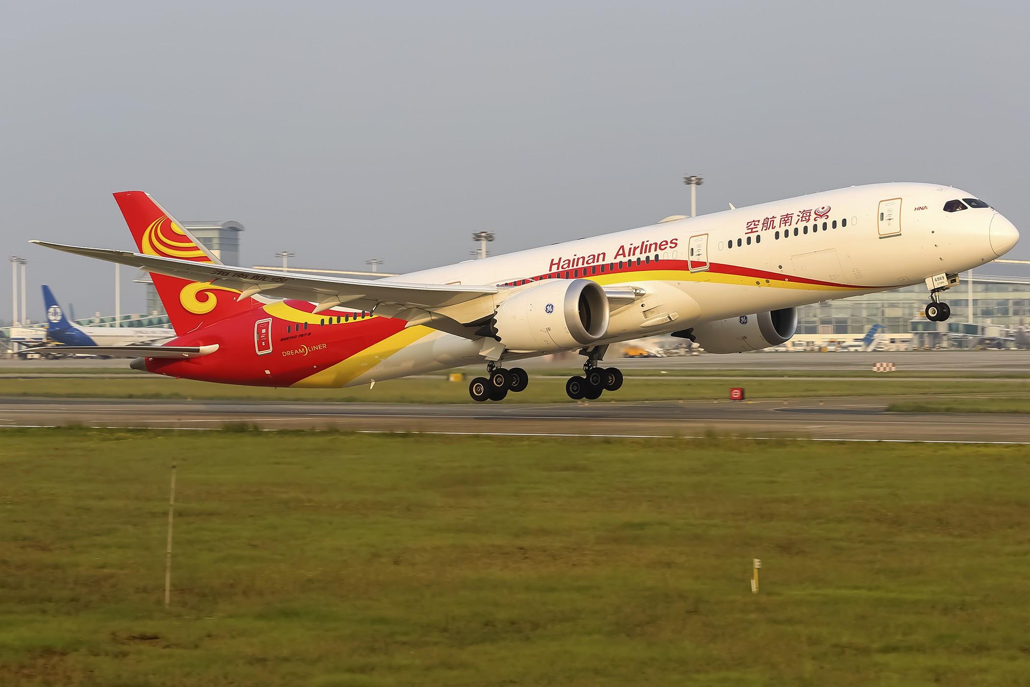 [原创](KHN 3600*)789暴力拉起 BOEING 787-9 B-6969 中国南昌昌北国际机场