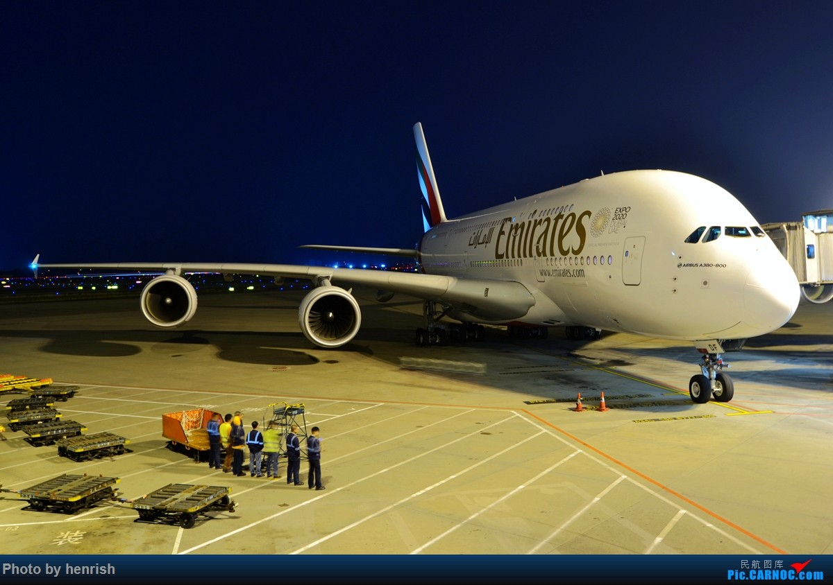 [原创]【肥威的CAN】夜·白云6 AIRBUS A380 A6-EDF 中国广州白云国际机场