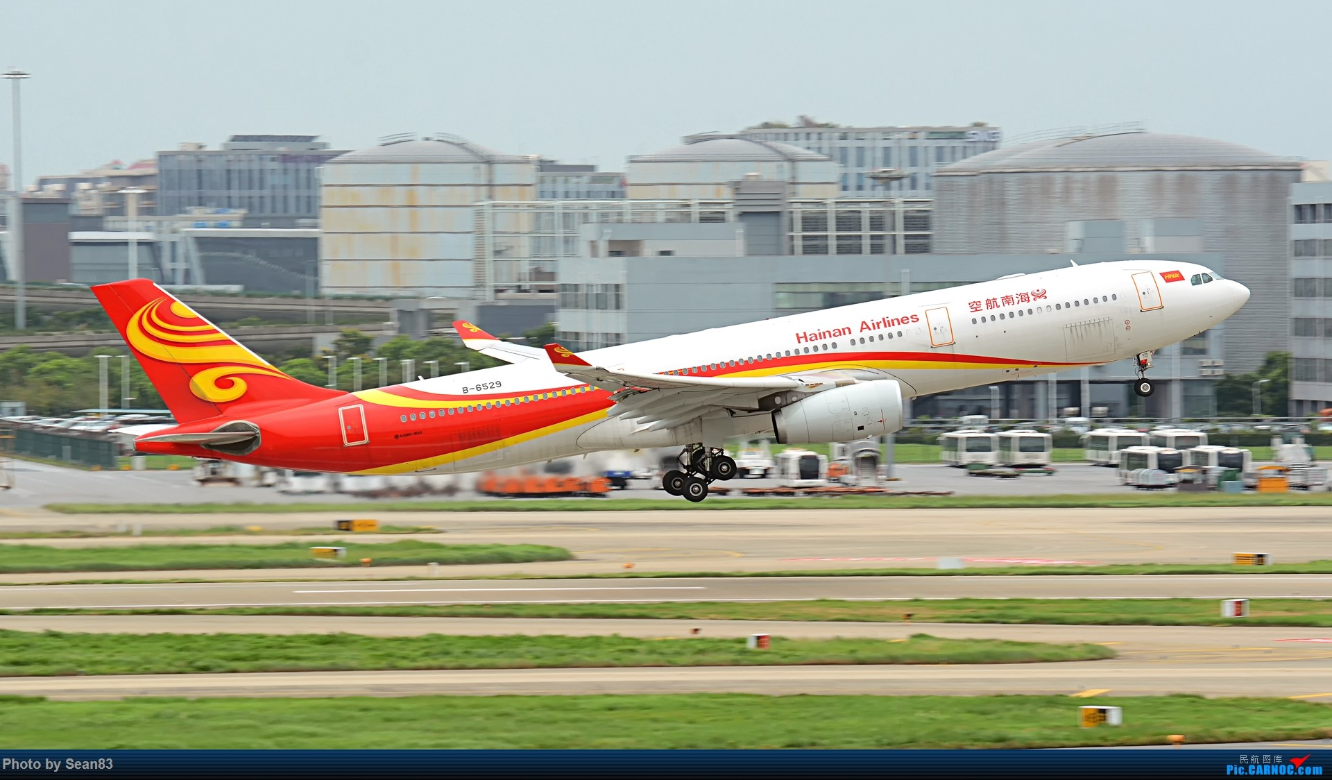 Re:[原创](1920*1080)放出一组壁纸 AIRBUS A330-300 B-6529 上海虹桥机场