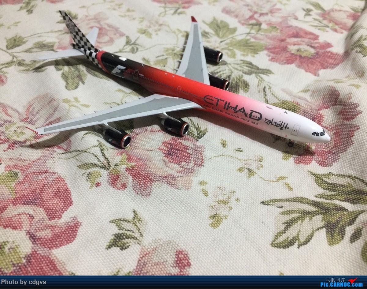 [原创]没时间拍机,只好在家拍拍模型 阿提哈德A340-600 F1 2017 AIRBUS A340-600 A6-EHJ