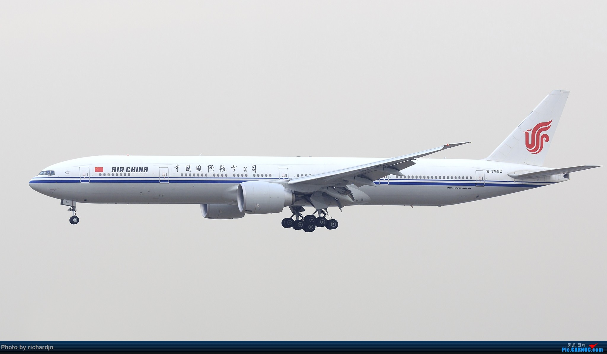 Re:国航777-300ER(B-7952)北京01进场 BOEING 777-300ER B-7952 中国北京首都国际机场