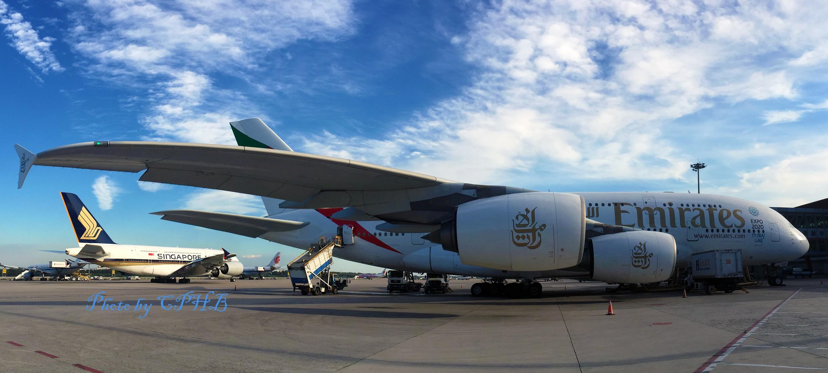 [原创]北京天儿好的时候从来没拿过相机! 我是一图党 哈哈 AIRBUS A380-800 A6EED 中国北京首都国际机场