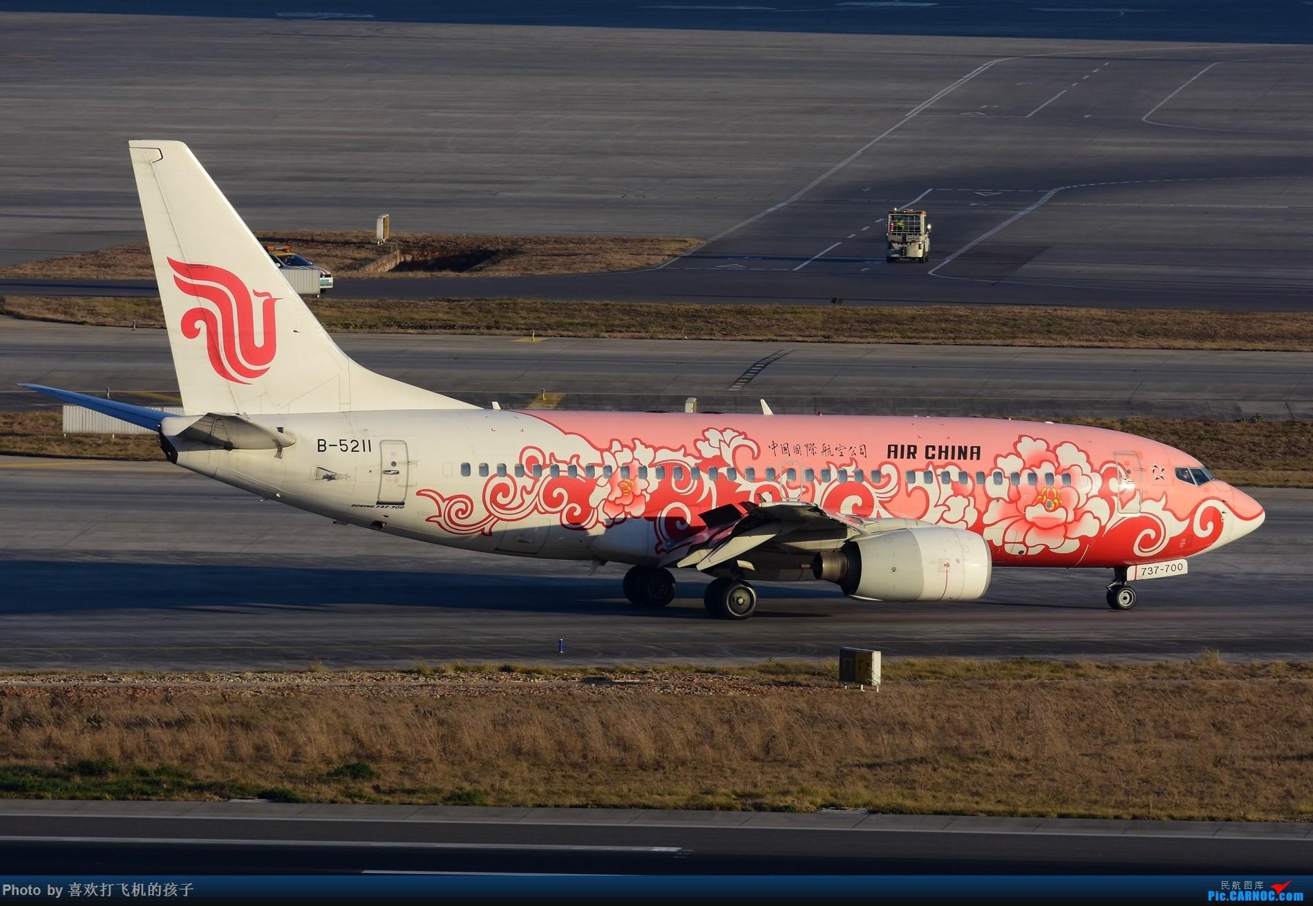 Re:[原创]【昆明飞友会】2017年最后一贴,昆明长水国际机场 BOEING 737-700 B-5211 中国昆明长水国际机场