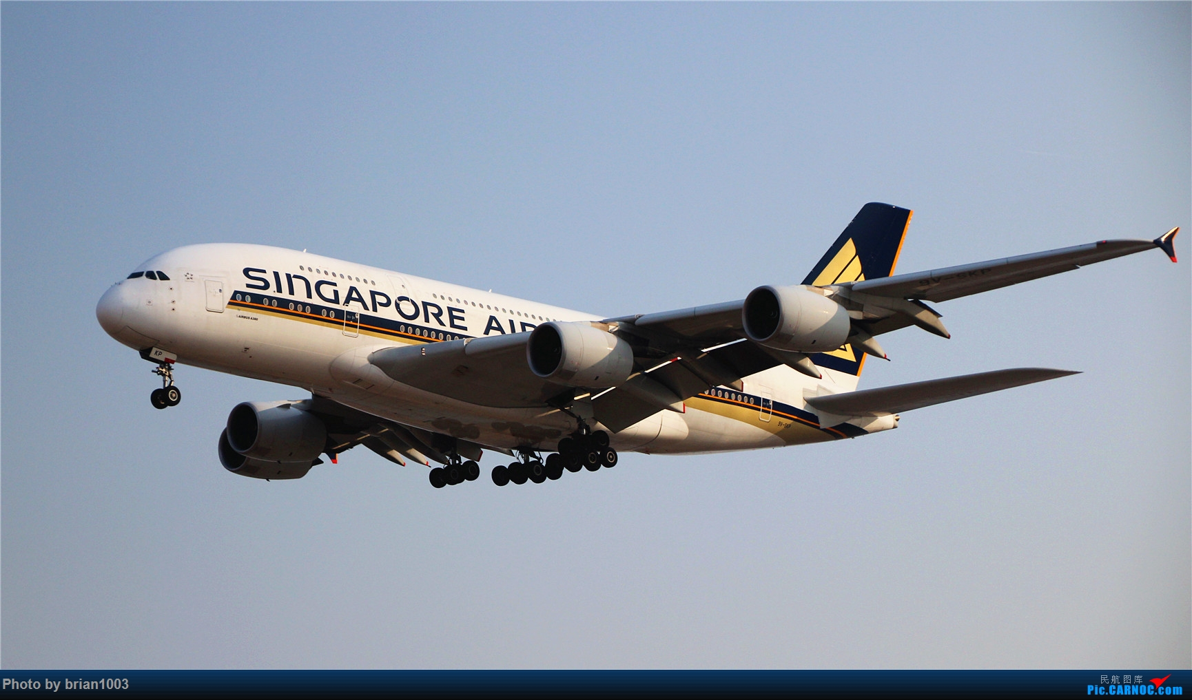Re:[原创]PEK八卦台拍机 AIRBUS A380-800 9V-SKP 首都机场