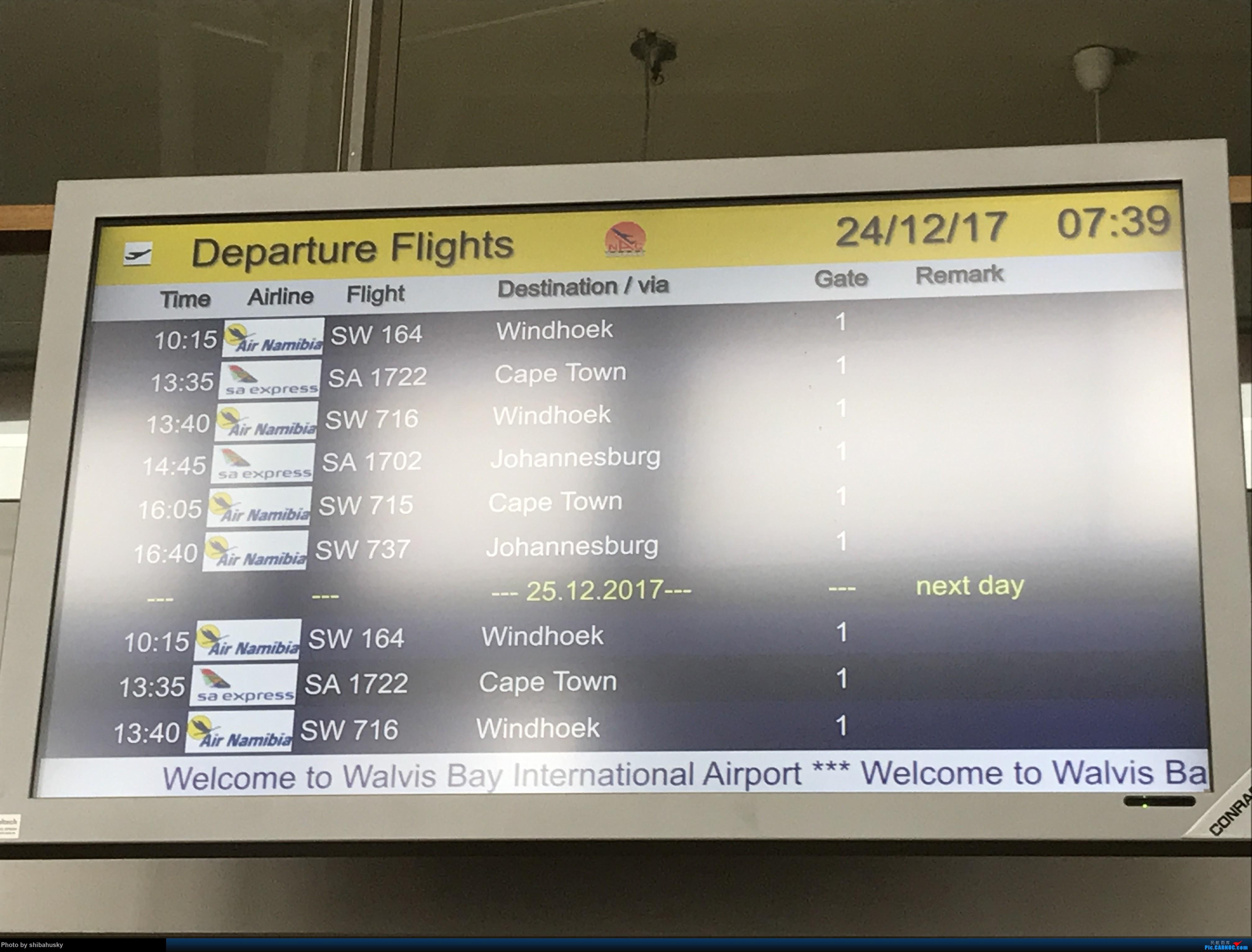 Re:[原创]新人第一帖 WVB-WDH-DOH-CDG-SOU 圣诞纳米比亚游记 体验稀有机型加辗转回英