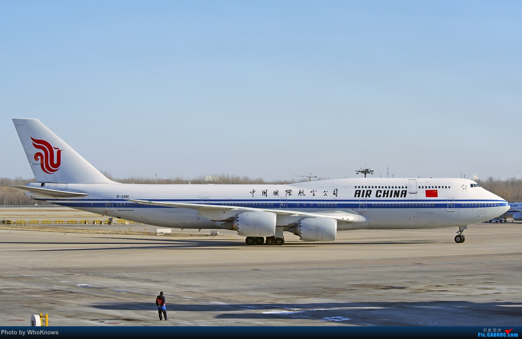 Re:[原创]北京的蓝天 BOEING 747-8I B-2481 中国北京首都国际机场
