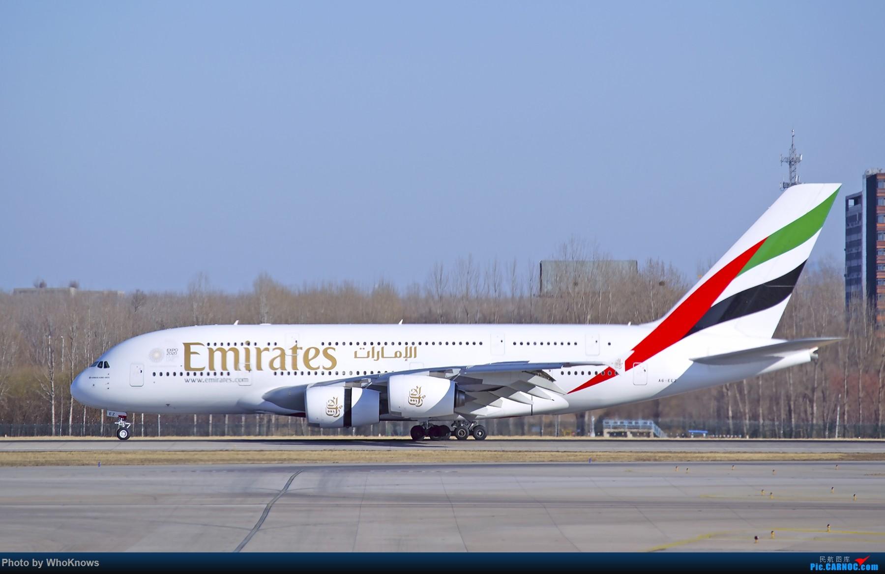 Re:[原创]北京的蓝天 AIRBUS A380-800 A6-EEZ 中国北京首都国际机场