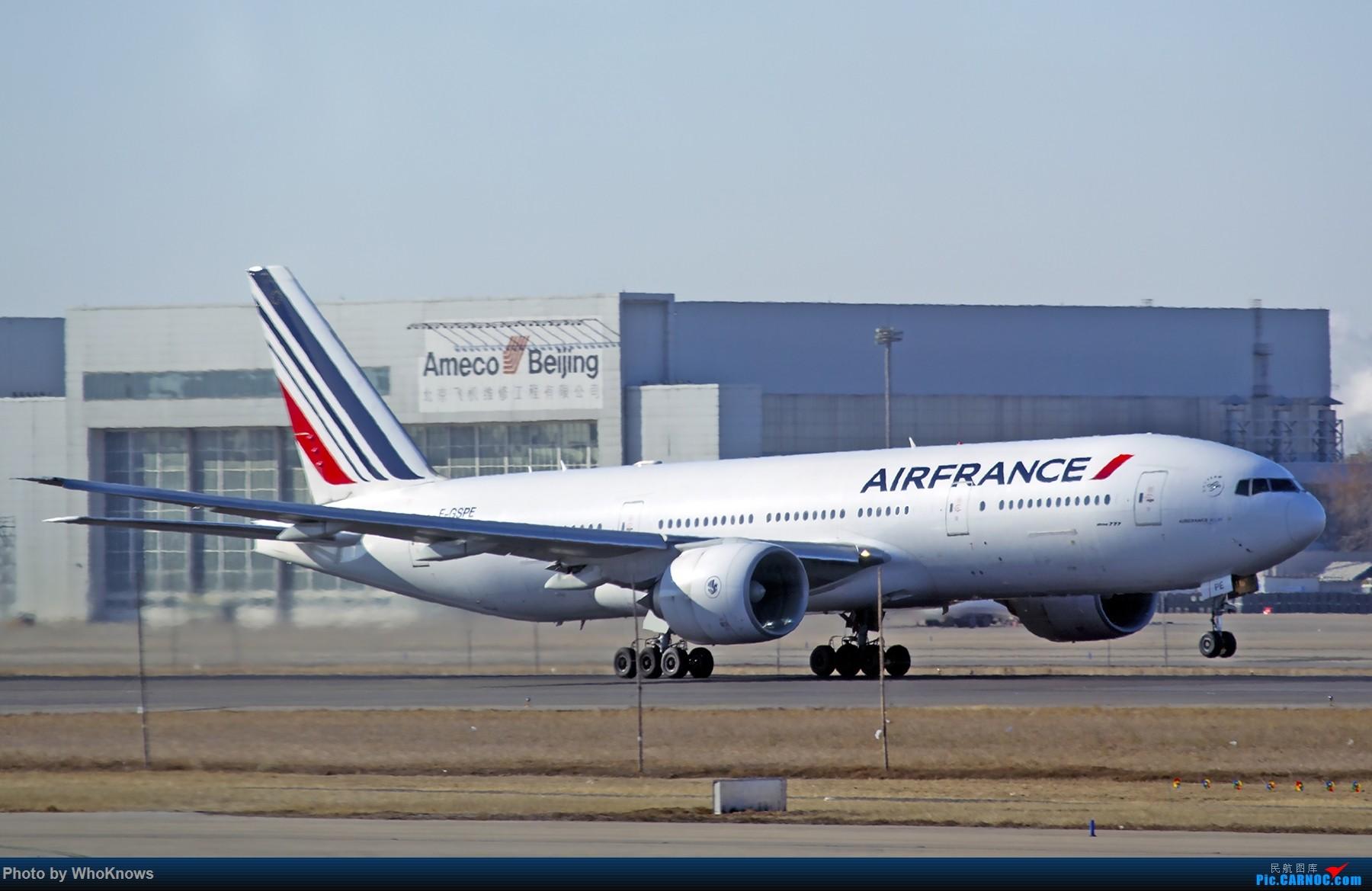 Re:[原创]北京的蓝天 BOEING 777-200 F-GSPE