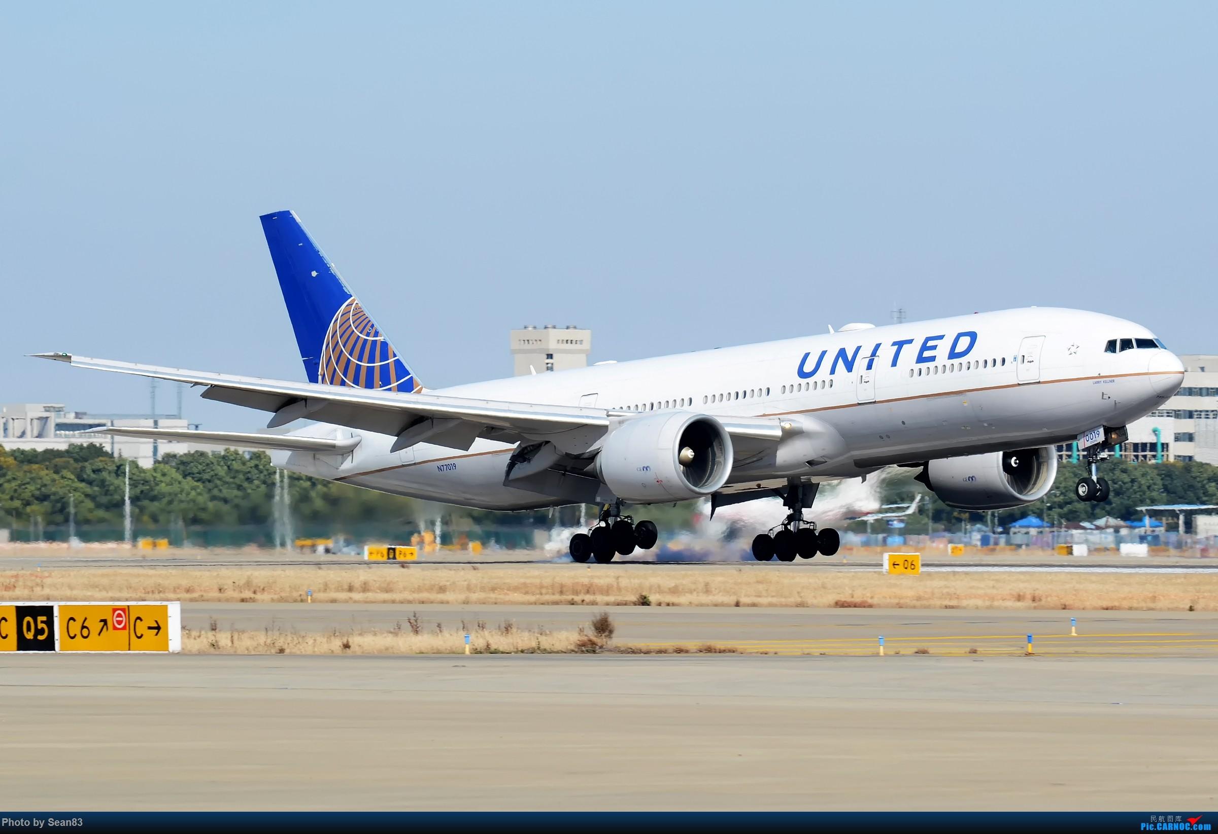 [原创](PVG)美联航772 BOEING 777-200ER N77019 上海浦东国际机场