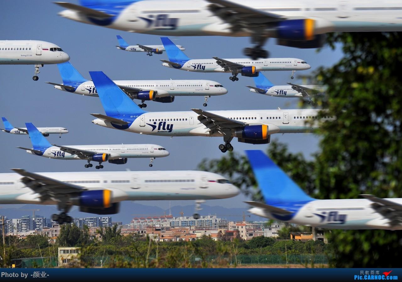 走近飞机起降点(无尽创意) BOEING 757-200 EI-CJY 中国广州白云国际机场