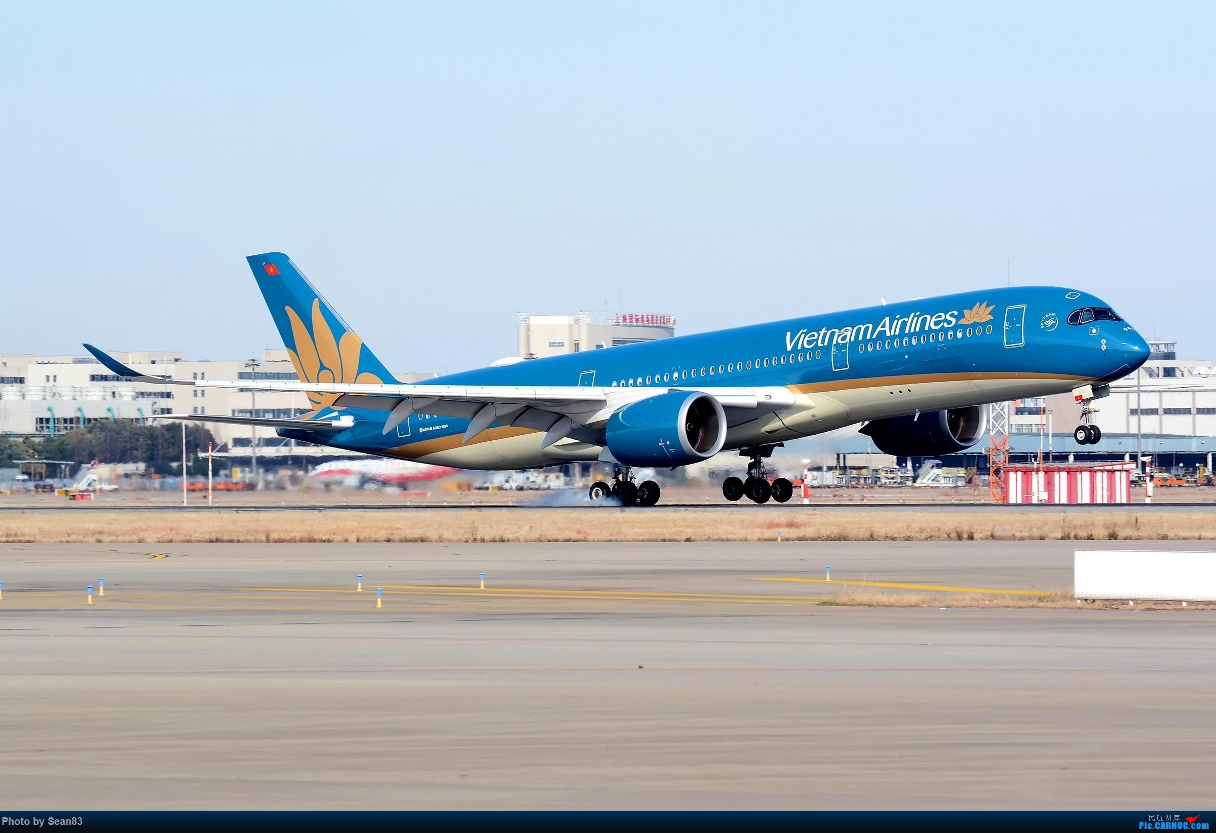 [原创](PVG)单脚落地 AIRBUS A350-900 VN-A389 上海浦东国际机场