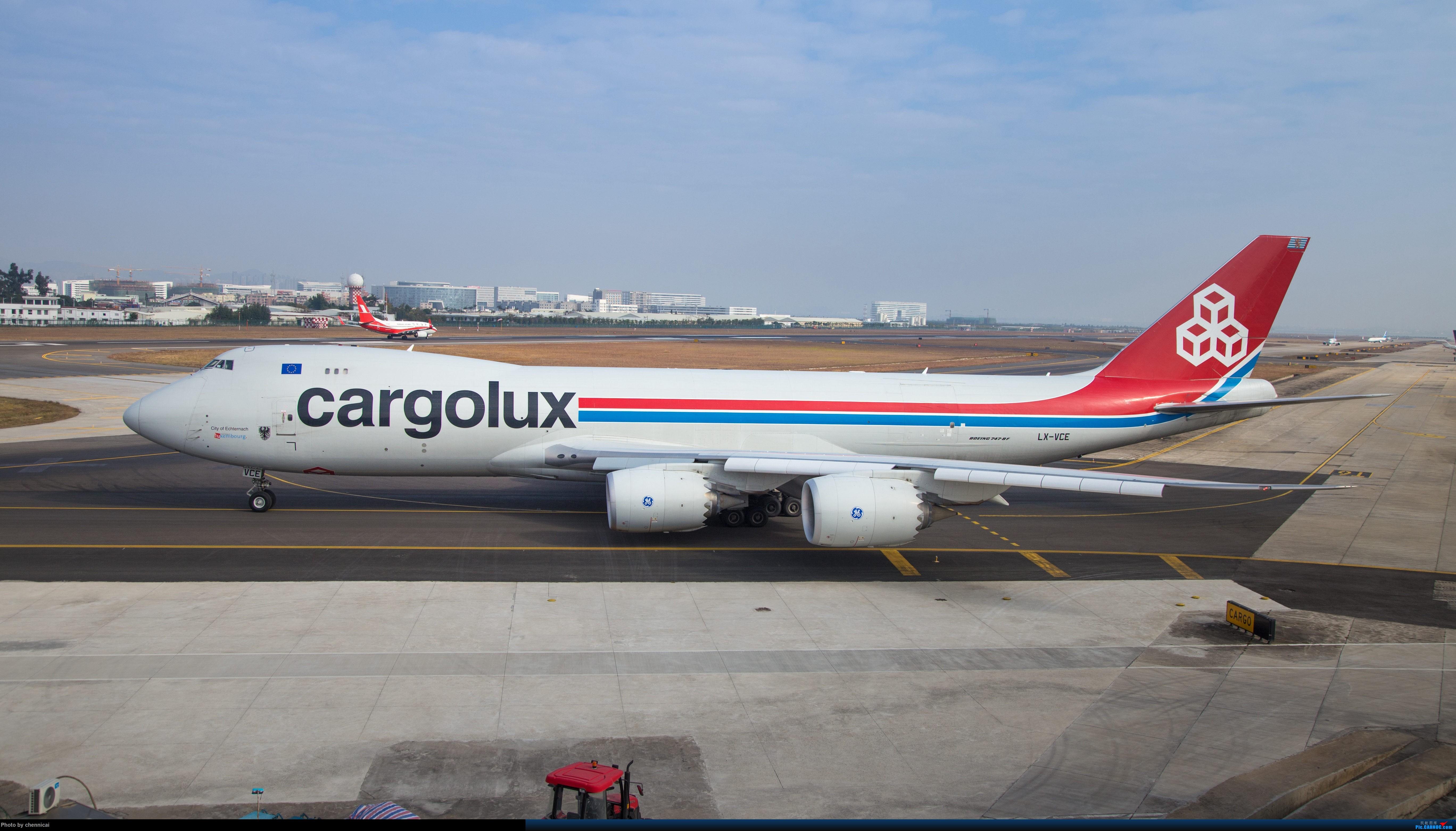 Cargolux 747-8f BOEING 747-8F LX-VCE 中国厦门高崎国际机场