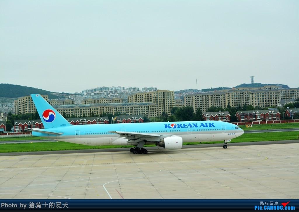 Re:[原创]2017鸡鸭图之烟大空中快线 BOEING 777-200 HL-7715 中国大连国际机场