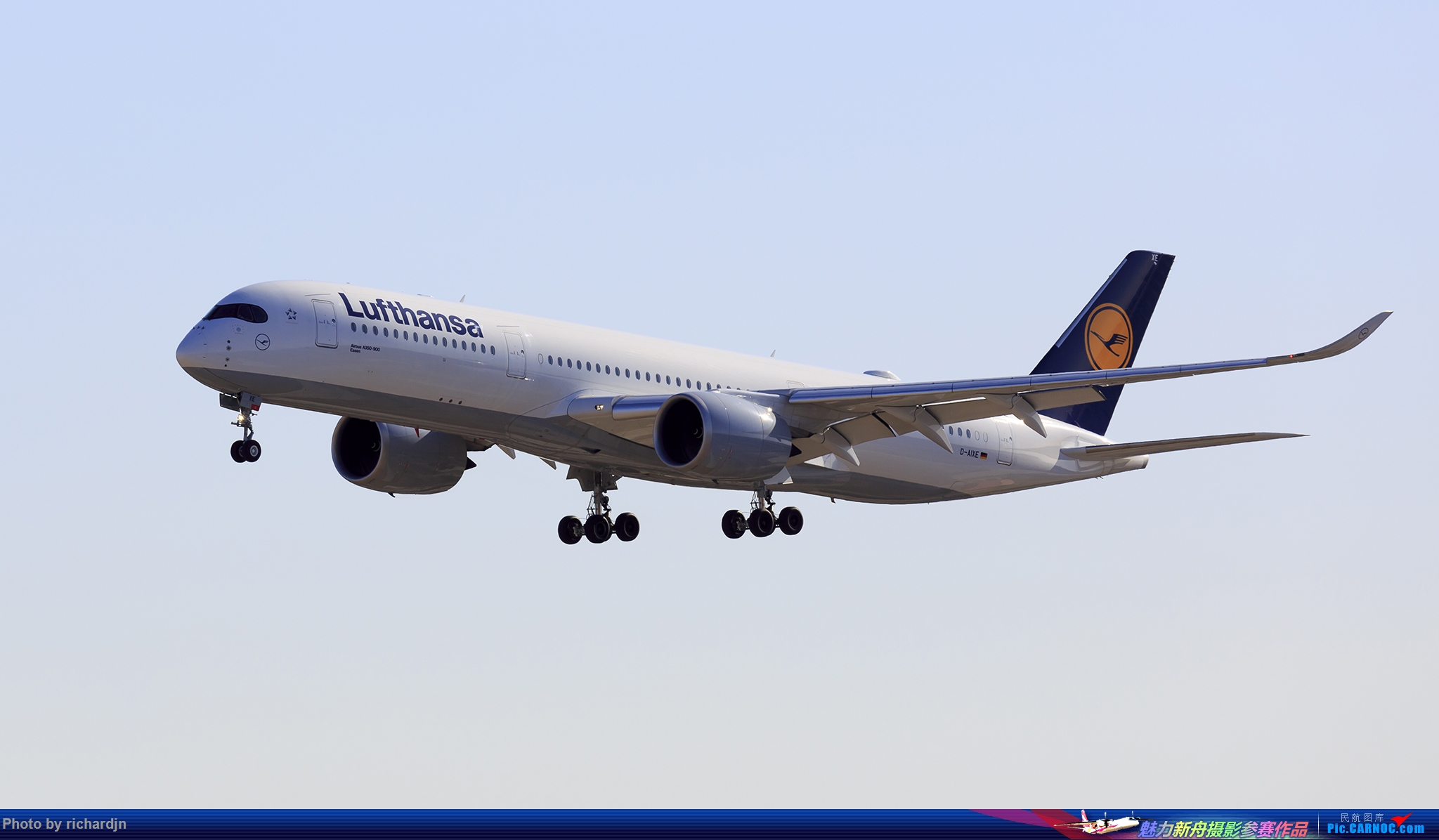 [原创]汉莎359 ZBAA 01进场 AIRBUS A350-900 D-AIXE 中国北京首都国际机场