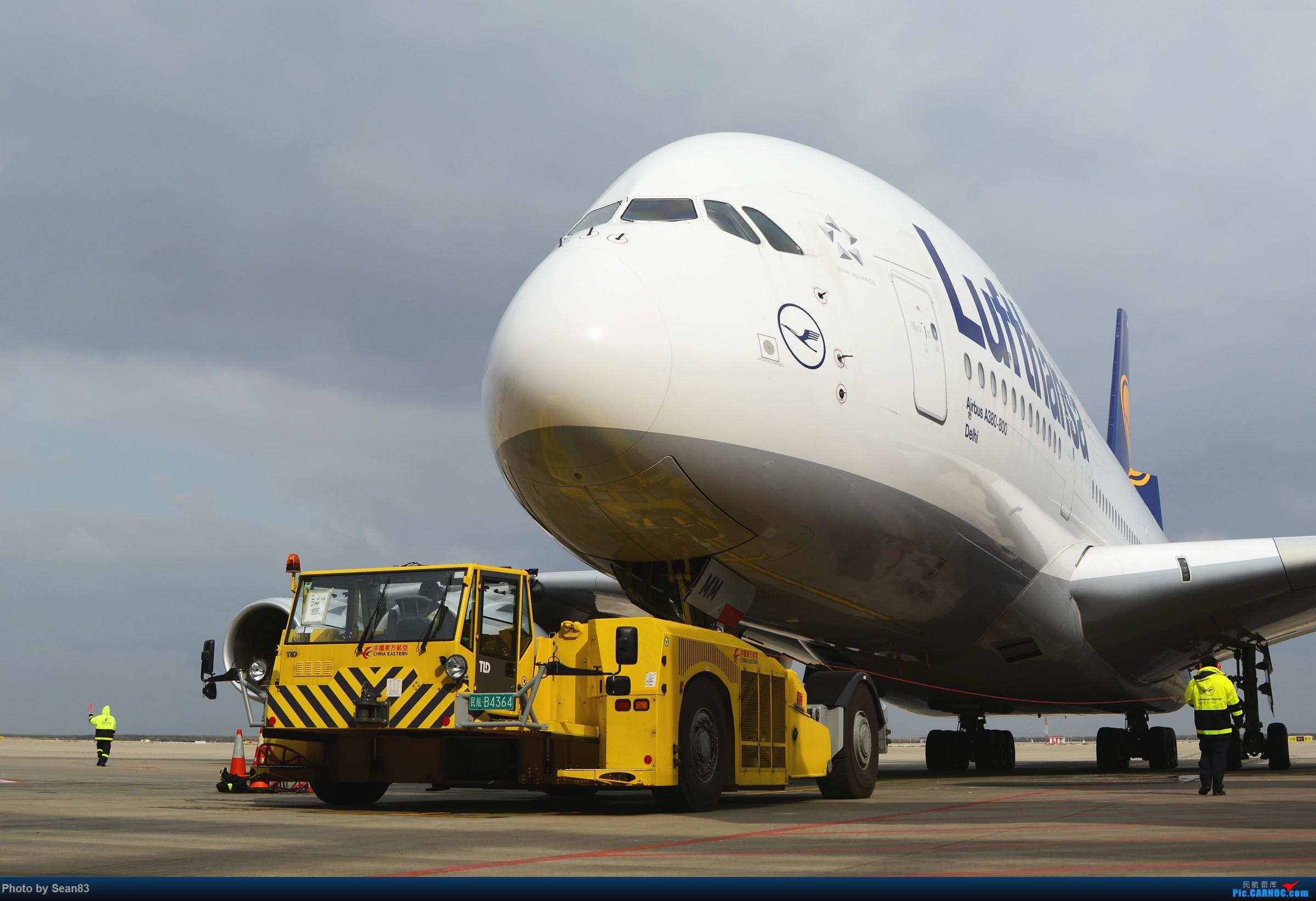 [原创]大车拉重机 AIRBUS A380-800  上海浦东国际机场