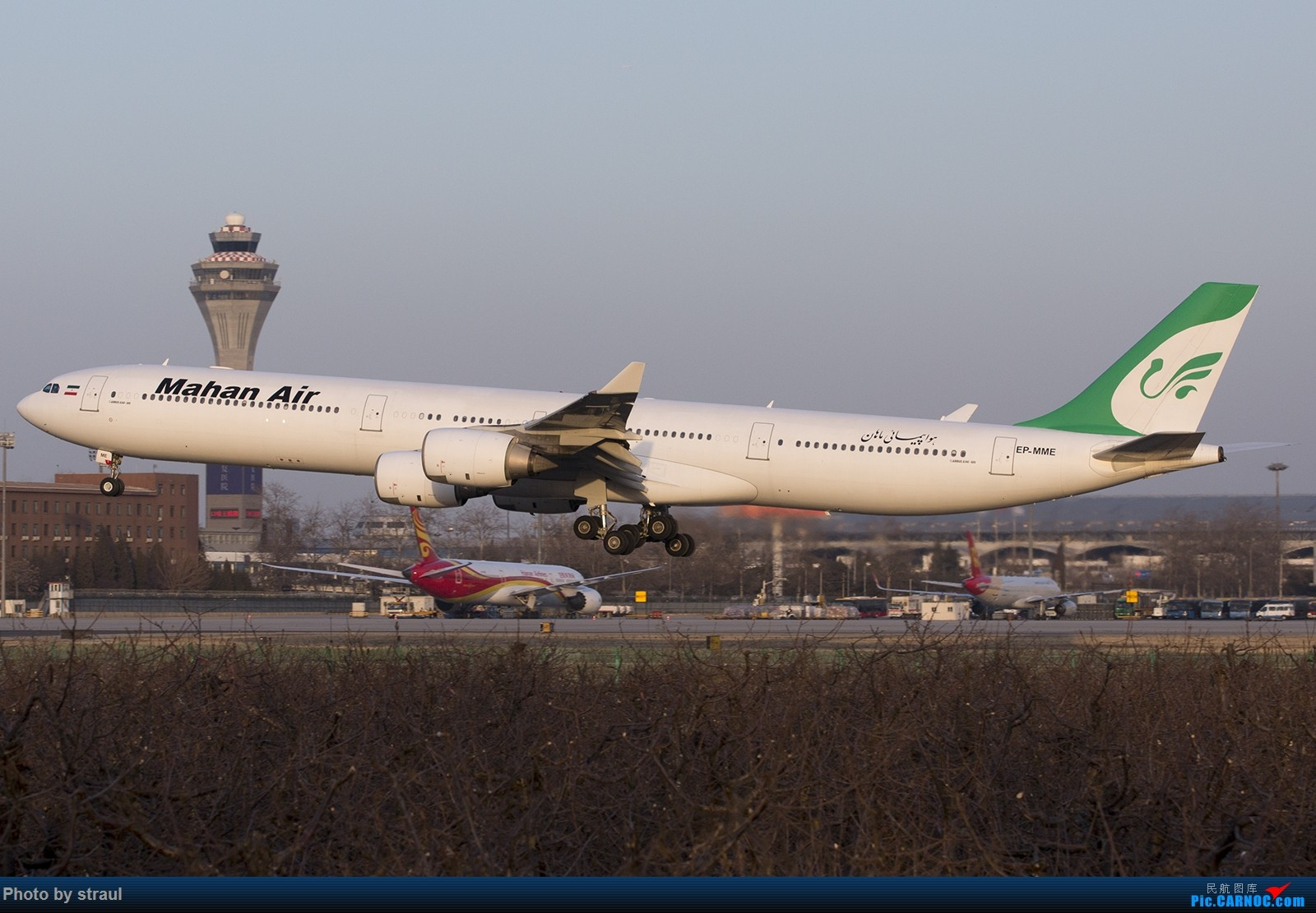 [原创]「一图一机」晚点的马汉 AIRBUS A340-600 EP-MME 中国北京首都国际机场