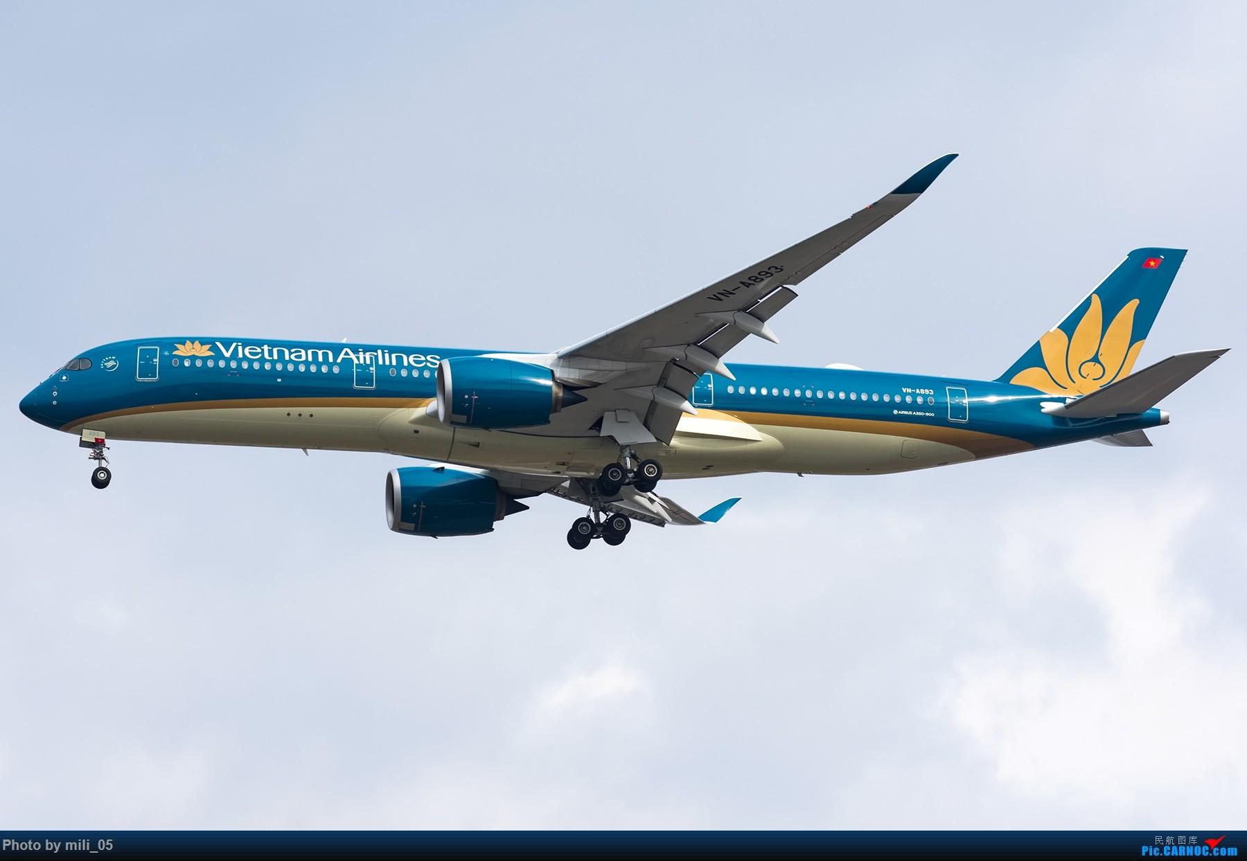 [原创][PVG] 严冬苦寒也不忘拍机,上一张A350 AIRBUS A350-900 VN-A893 中国上海浦东国际机场