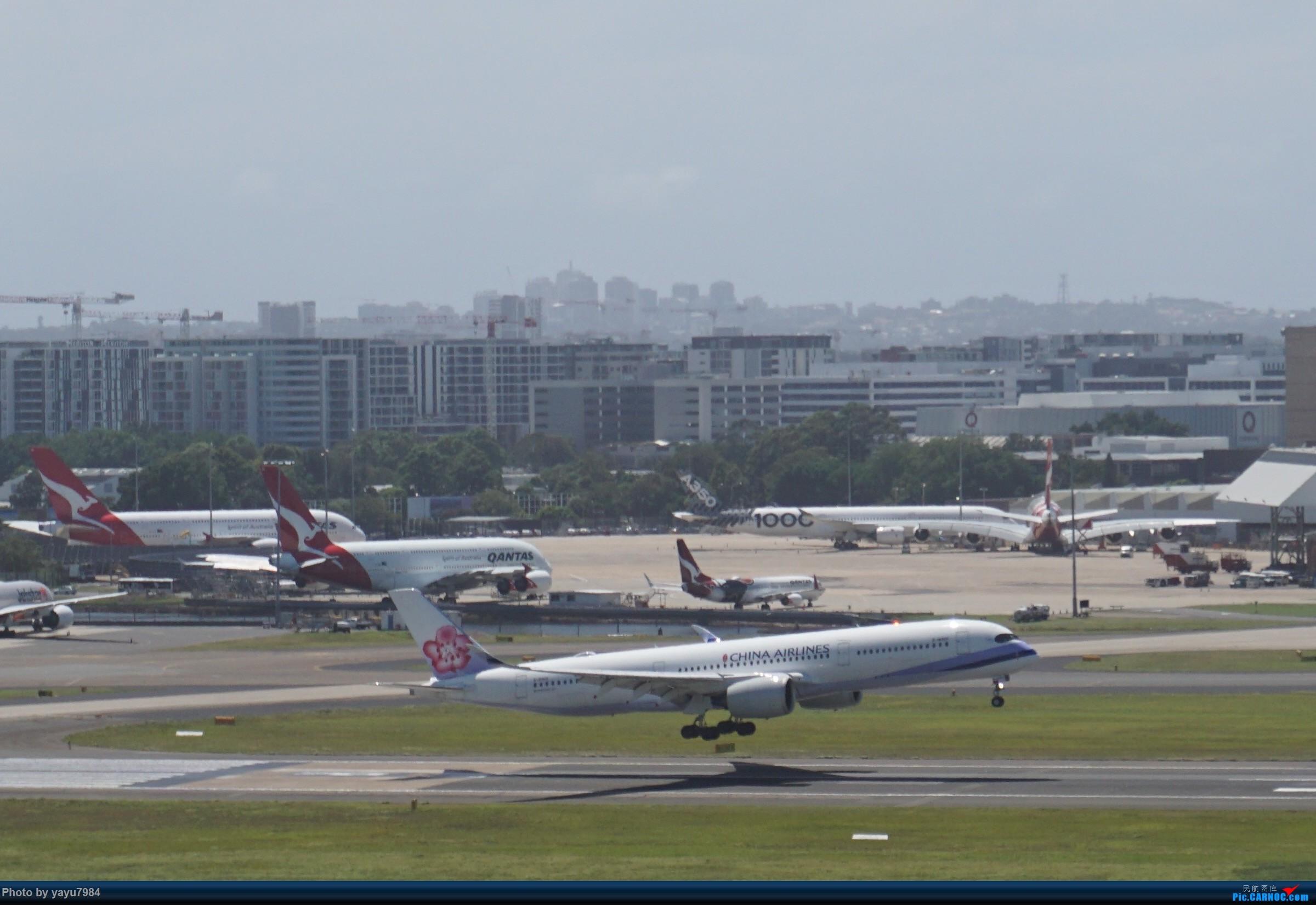 [原创][SYD] 华航A350-900和碳纤维A350-1000同框 AIRBUS A350  澳大利亚悉尼金斯福德·史密斯机场