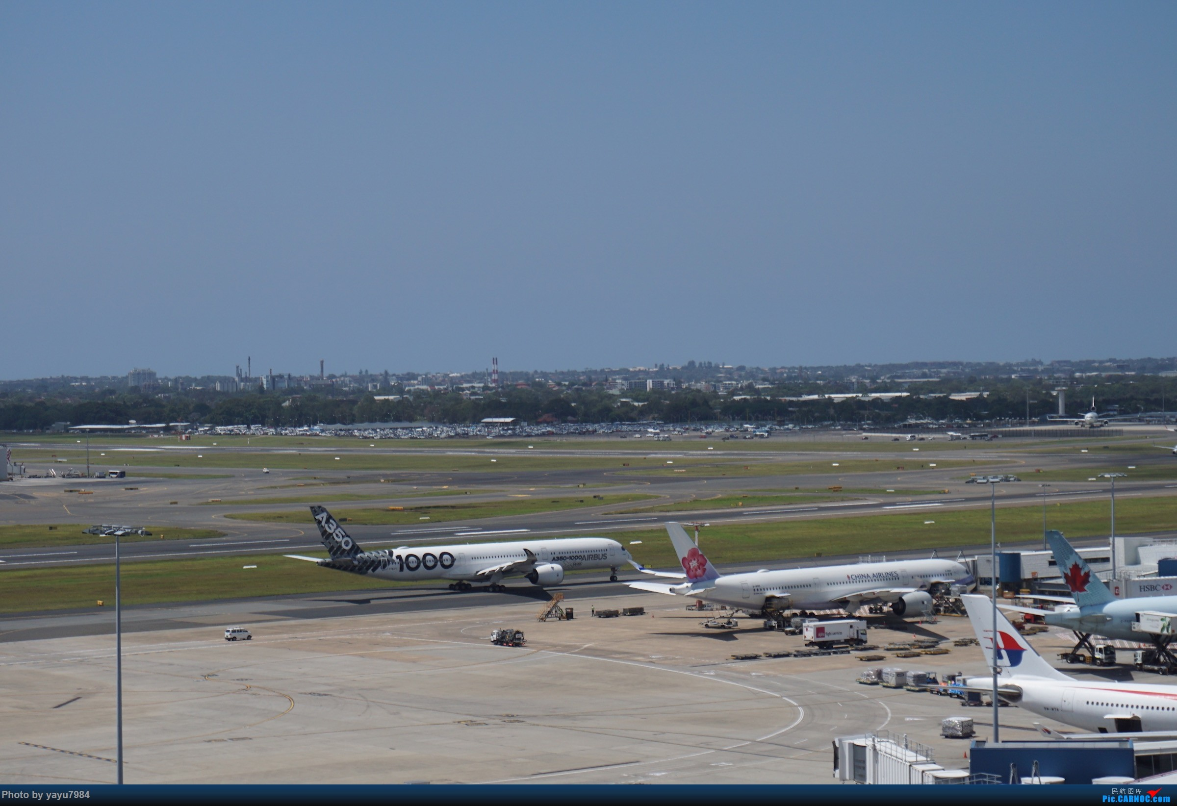 Re:[原创][SYD] 华航A350-900和碳纤维A350-1000同框 AIRBUS A350  澳大利亚悉尼金斯福德·史密斯机场